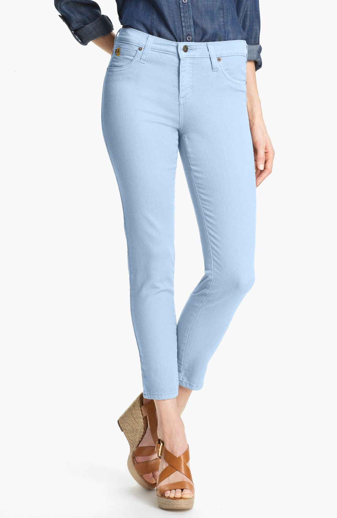 Alternate Image 1 Selected - Second Yoga Jeans Skinny Ankle Jeans