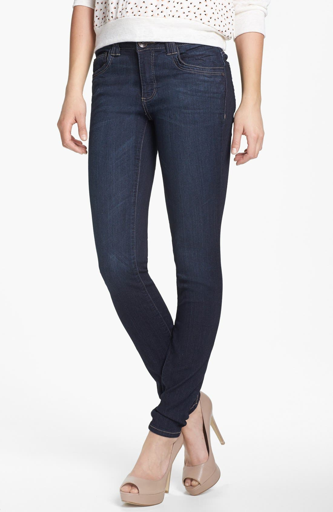 Alternate Image 1 Selected - Wit & Wisdom Skinny Jeans (Indigo) (Nordstrom Exclusive)