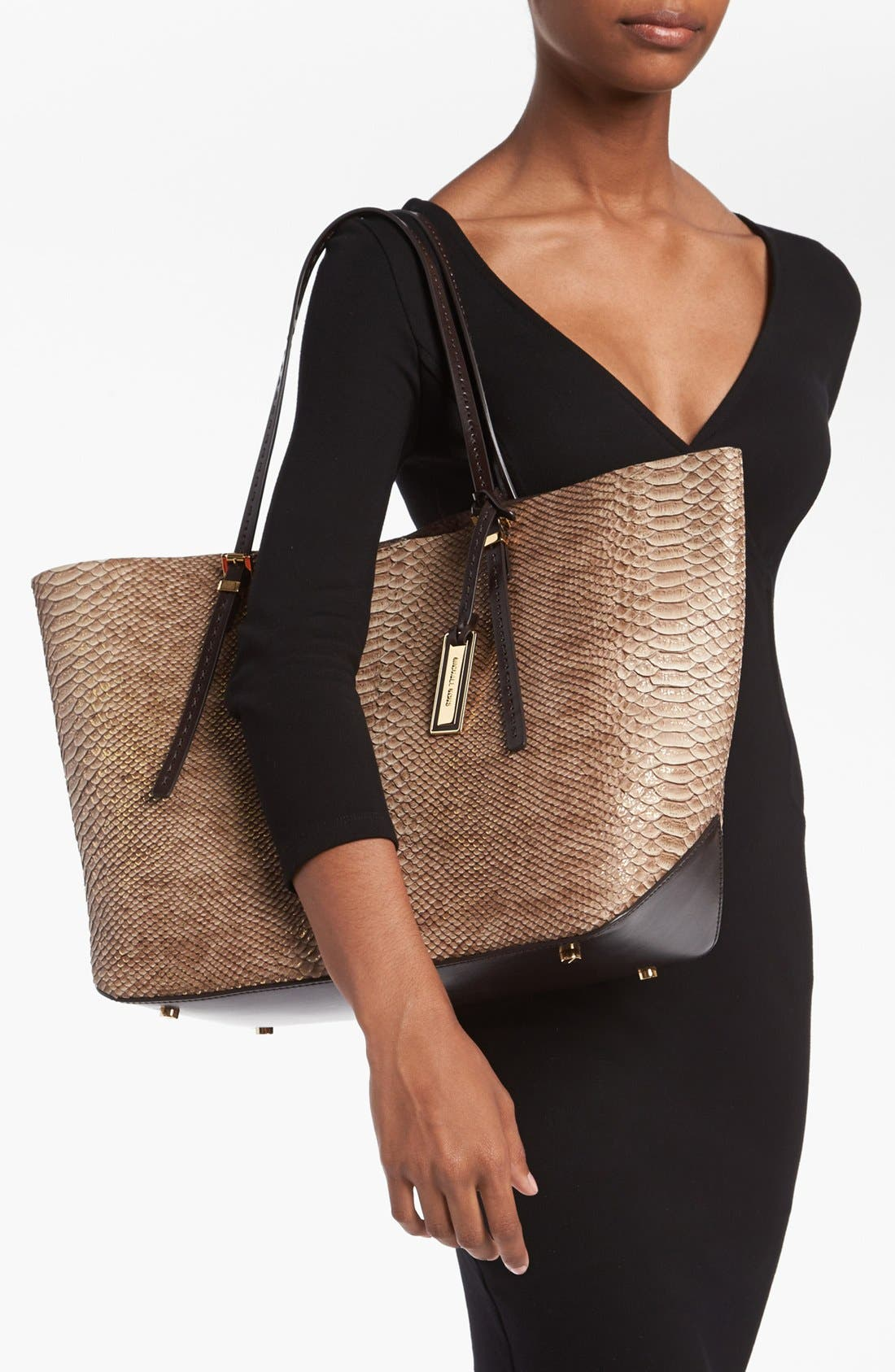 Alternate Image 2  - Michael Kors 'Gia' Python Embossed Leather Tote, Large
