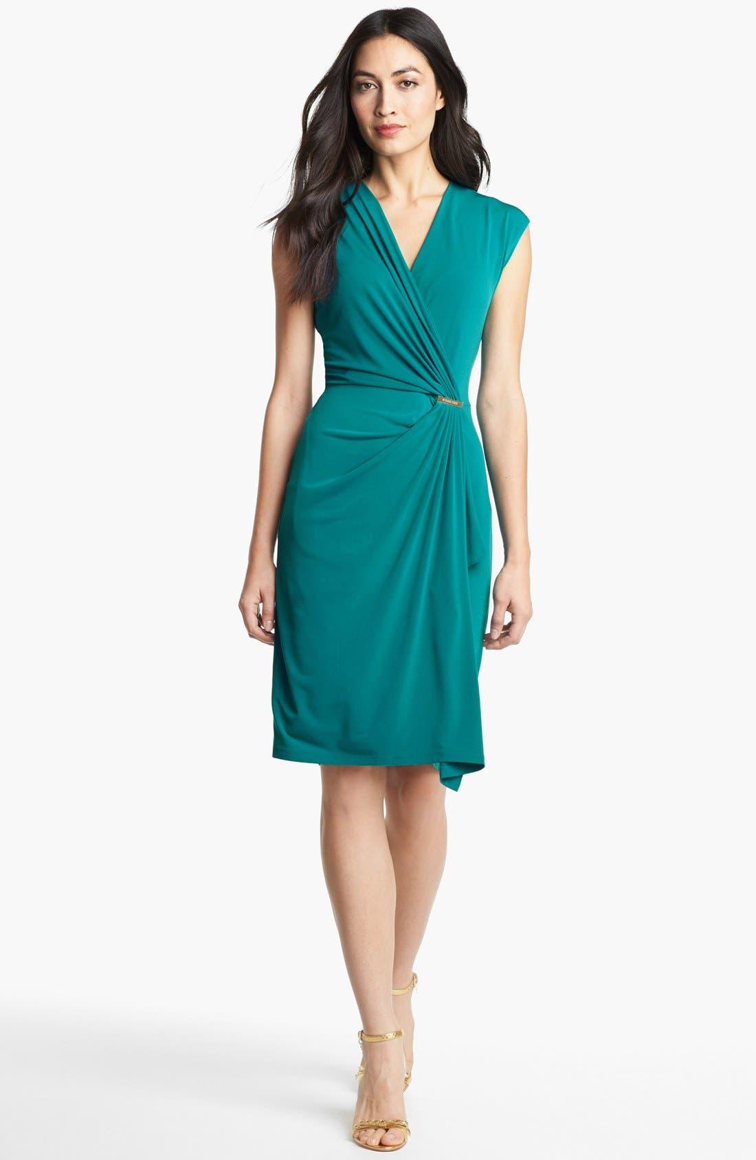 Alternate Image 1  - MICHAEL Michael Kors Cap Sleeve Faux Wrap Dress