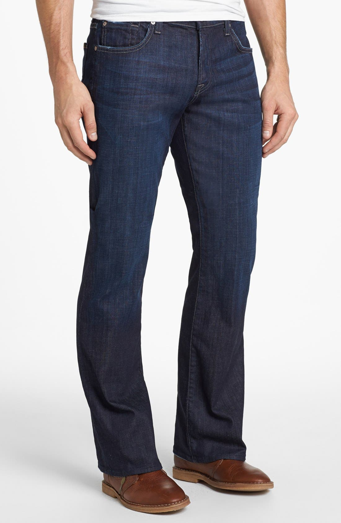 'Brett' Relaxed Bootcut Jeans,                             Main thumbnail 1, color,                             Los Angeles