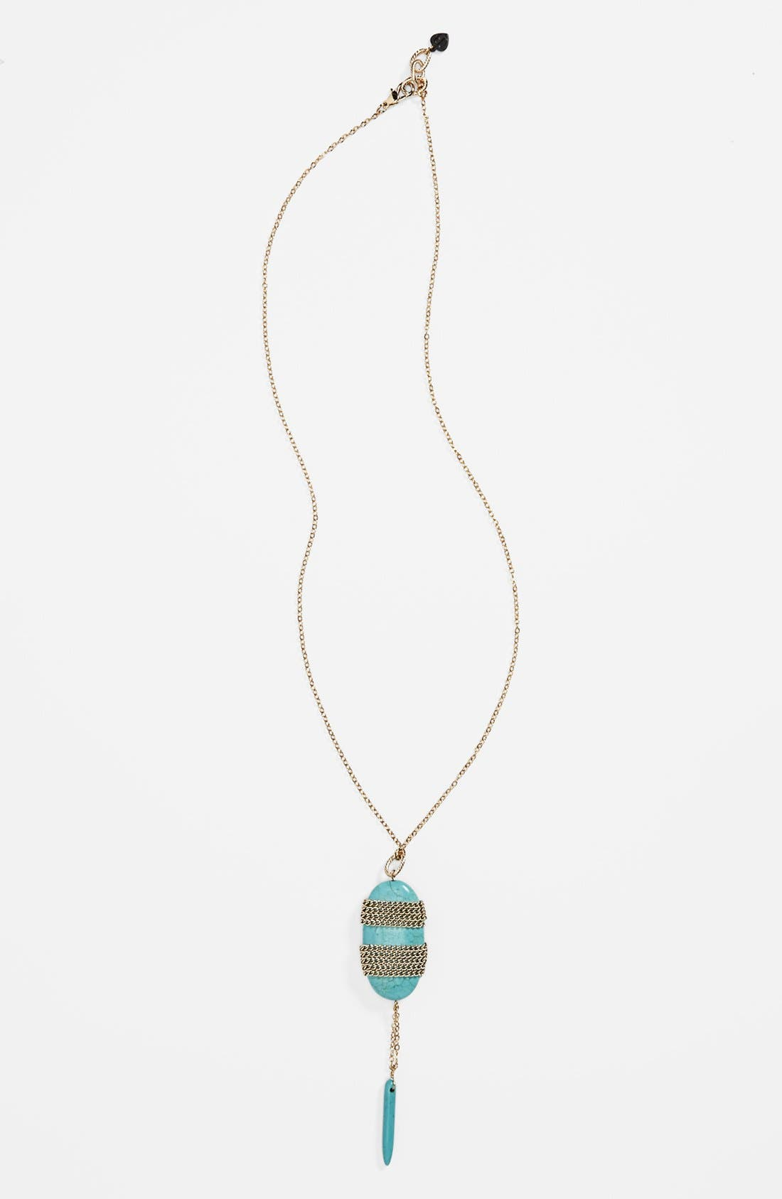 Alternate Image 1 Selected - Bonnie Jonas Turquoise Pendant Necklace