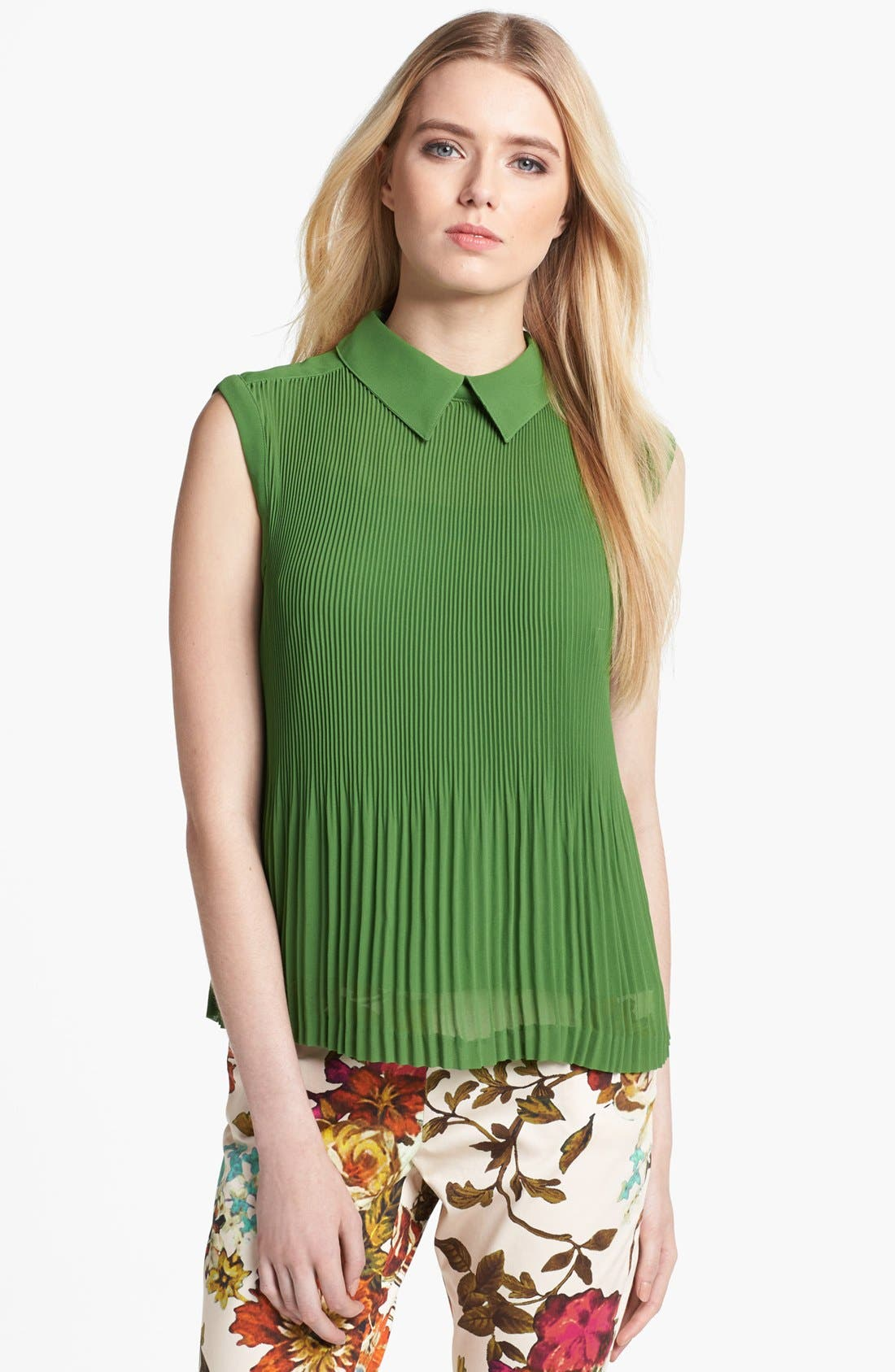 Alternate Image 1 Selected - Ted Baker London Pleated Top