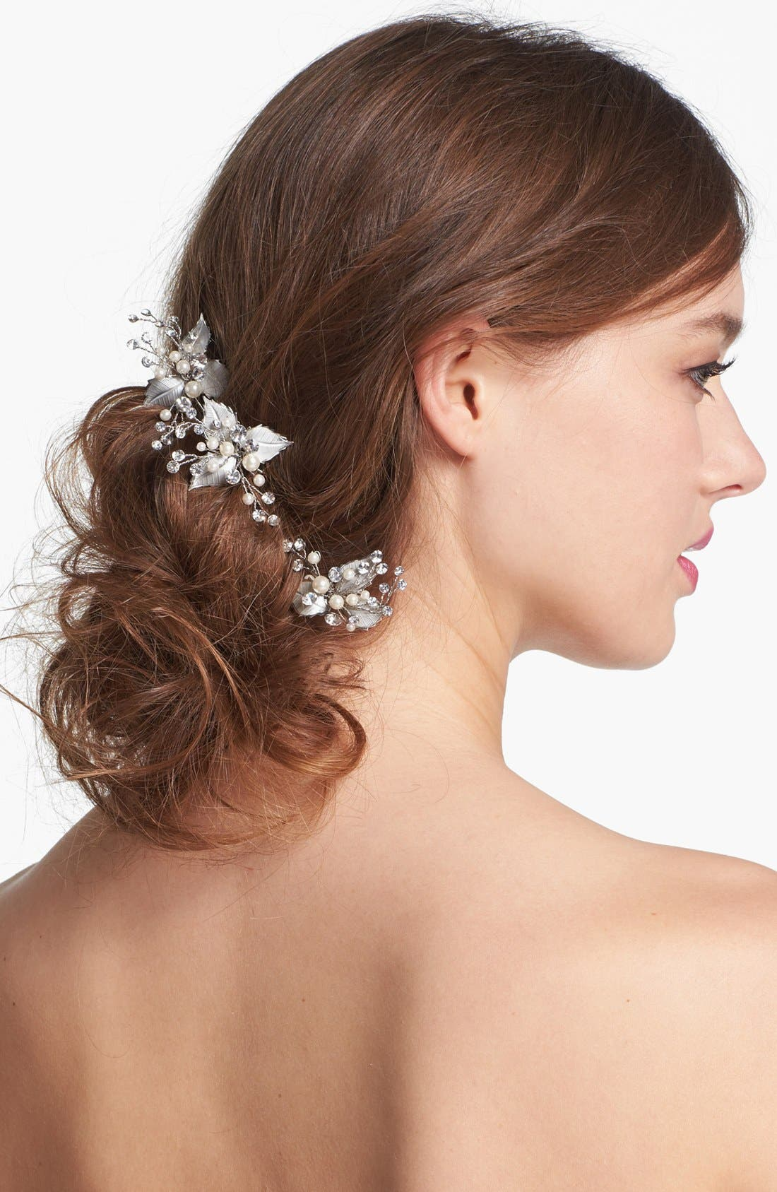 Alternate Image 1 Selected - Nina 'Salem' Crystal Hair Pins (Set of Three)