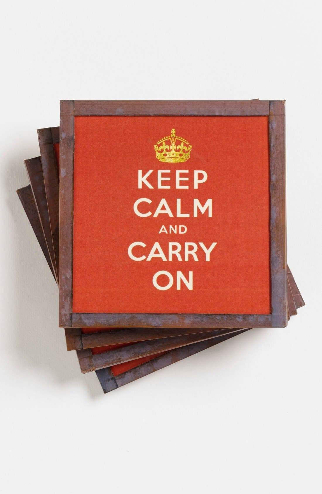Alternate Image 1 Selected - Ben's Garden 'Keep Calm and Carry On' Coasters (Online Only)