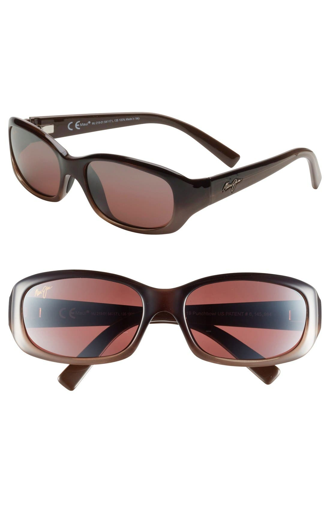 Punchbowl 54mm PolarizedPlus<sup>®</sup> Sunglasses,                         Main,                         color, Chocolate Fade