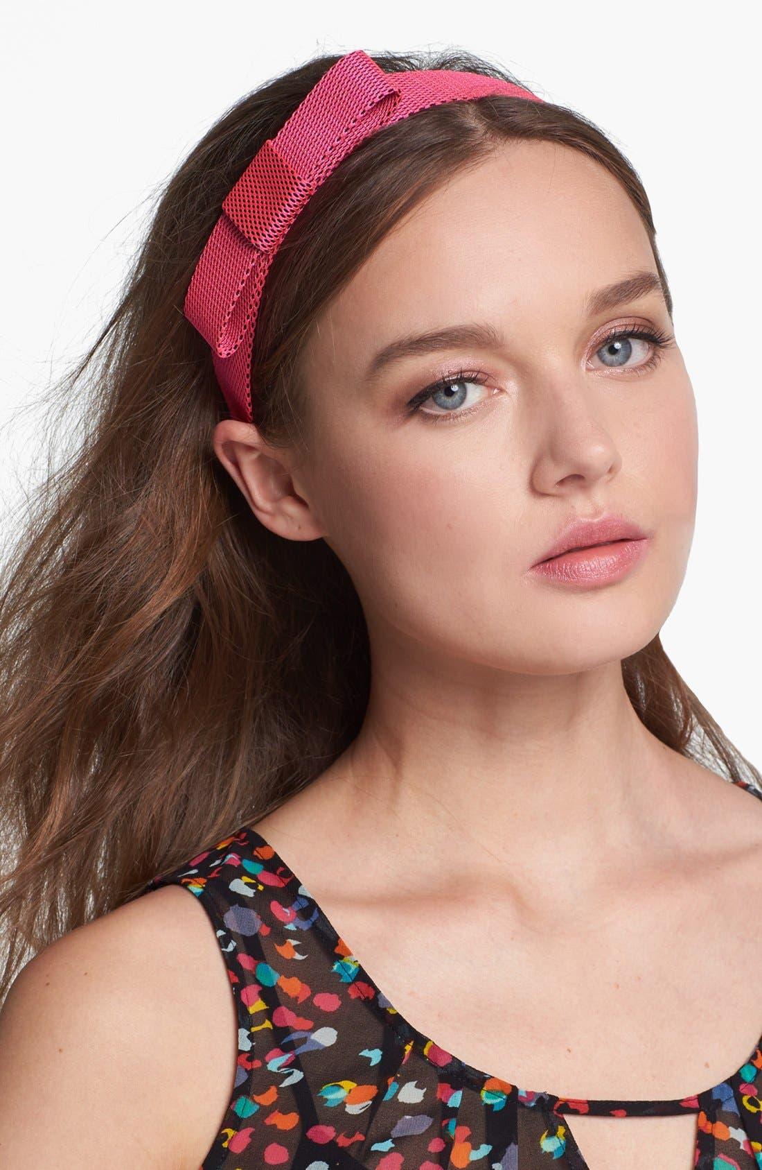 Main Image - Cara Mesh Bow Head Wrap
