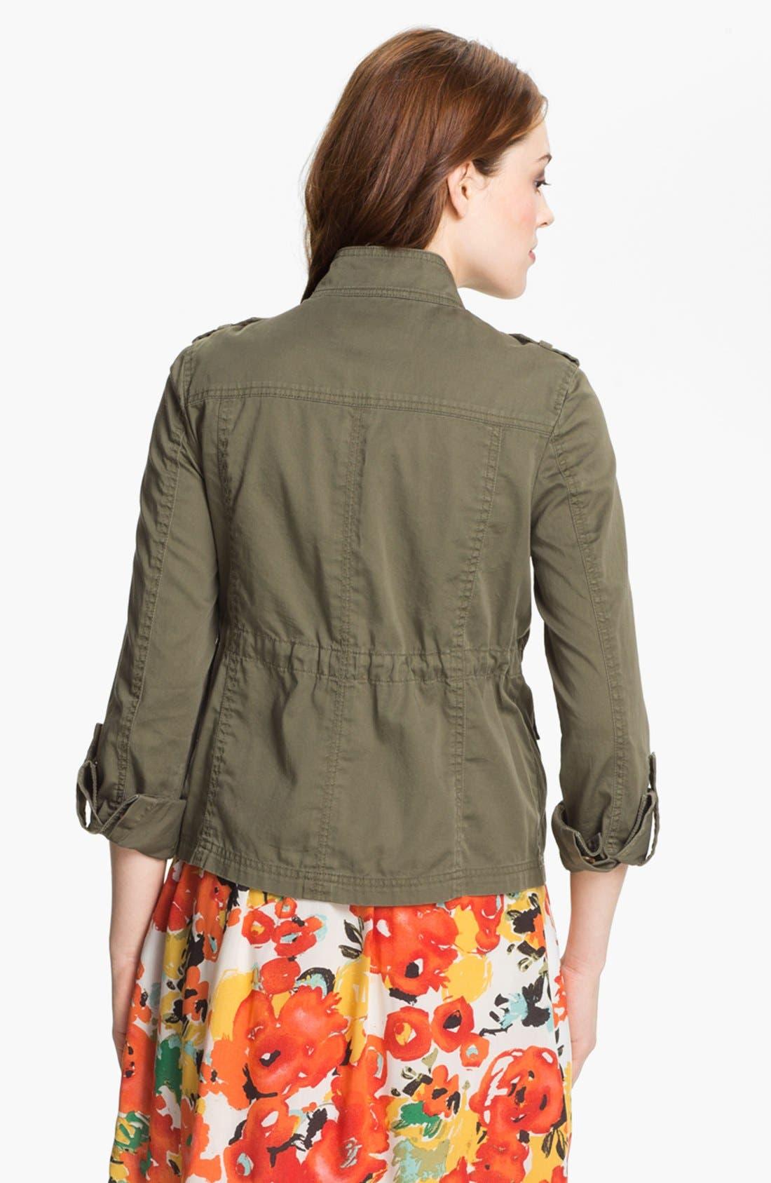 Alternate Image 2  - Caslon® Roll Sleeve Utility Jacket (Petite)