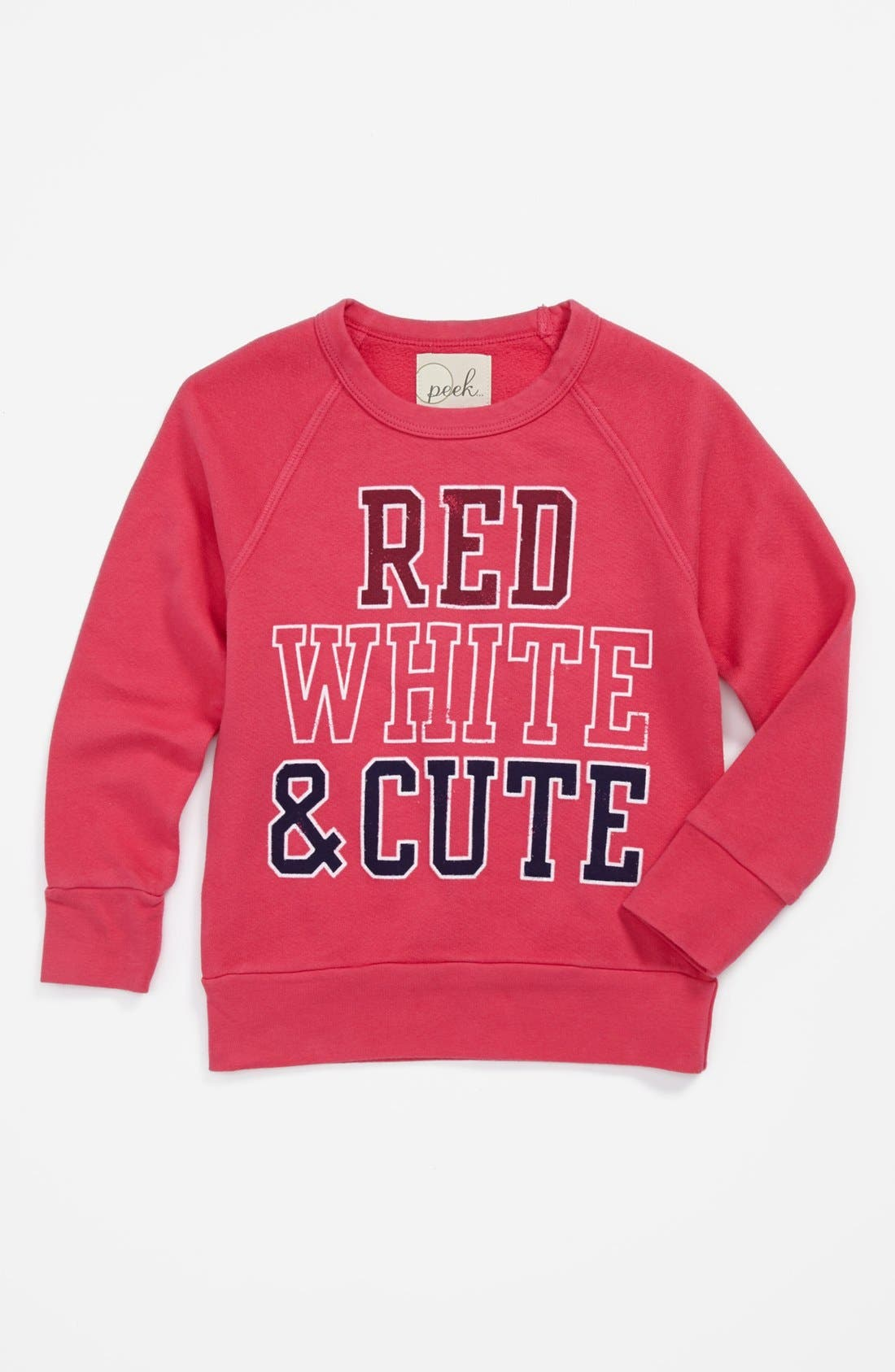 Alternate Image 1 Selected - Peek 'Parade' Sweatshirt (Toddler Girls, Little Girls & Big Girls)