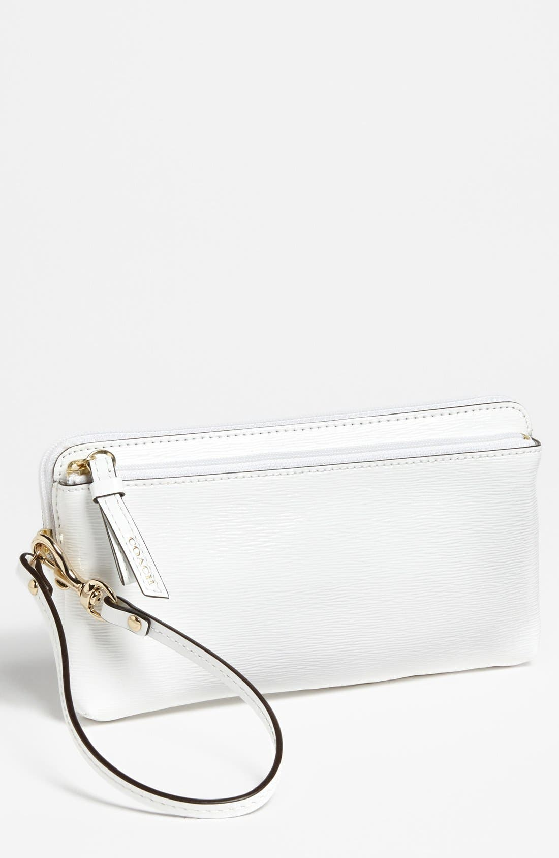 Alternate Image 1 Selected - COACH 'Poppy' Textured Patent Leather Wallet