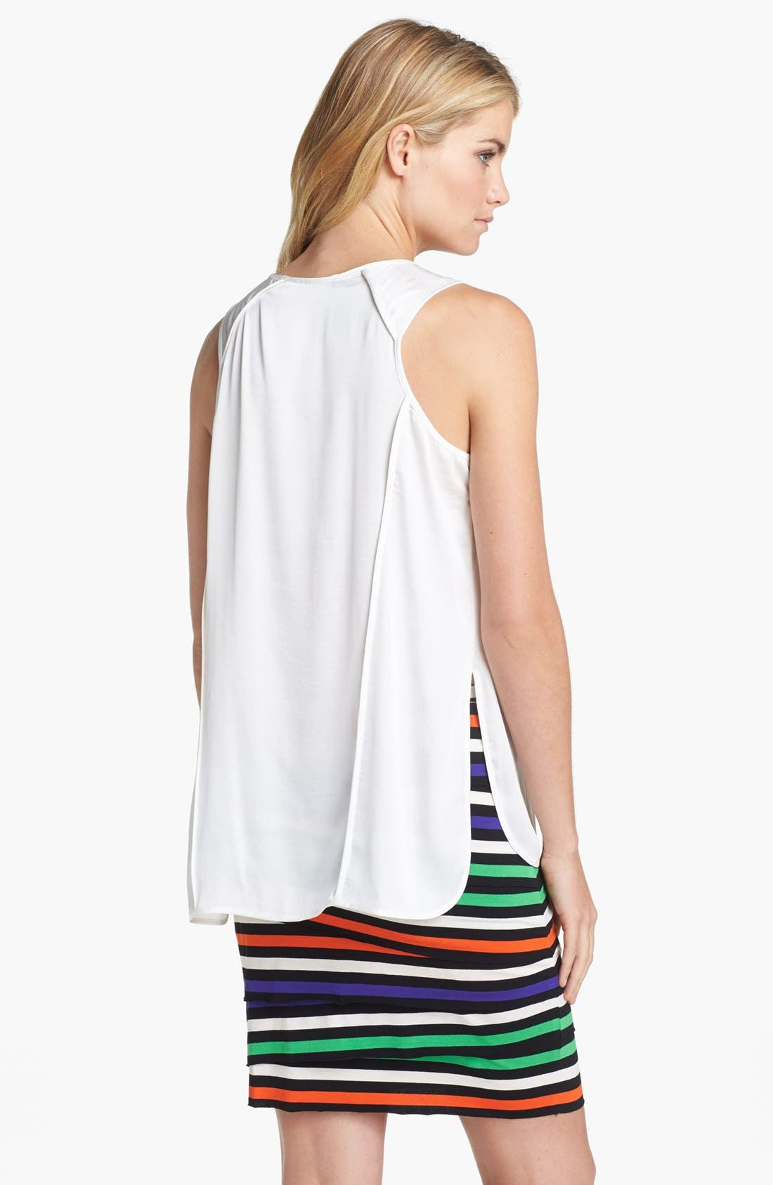 Alternate Image 2  - Vince Camuto Seamed High/Low Tank