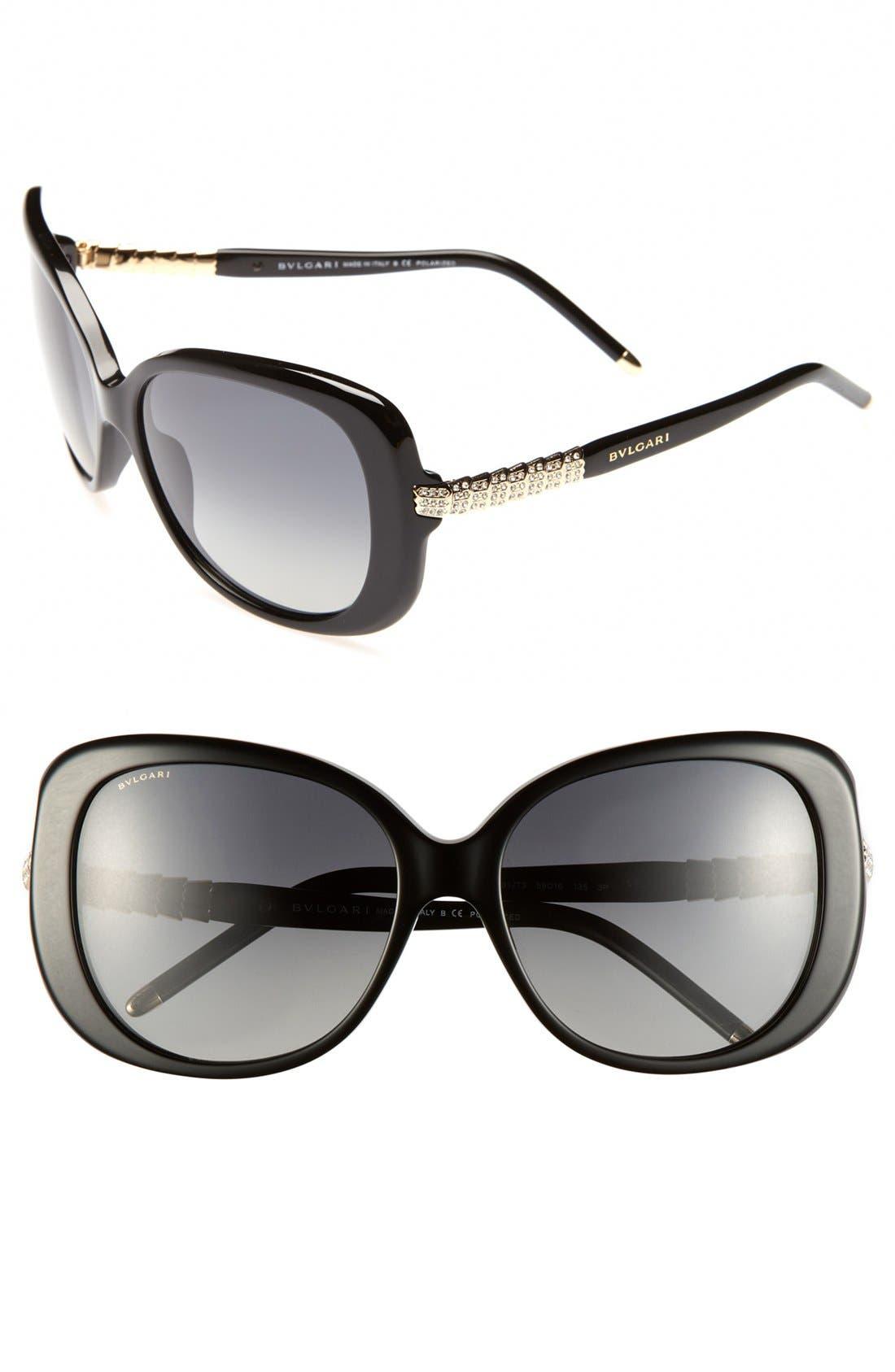 Alternate Image 1 Selected - BVLGARI 59mm Retro Sunglasses