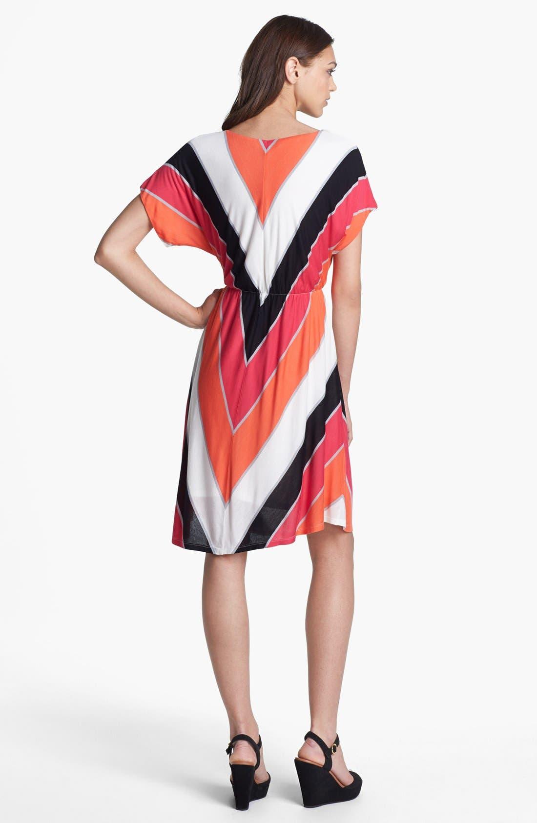 Alternate Image 2  - Felicity & Coco V-Neck Chevron Stripe Jersey Dress (Nordstrom Exclusive)