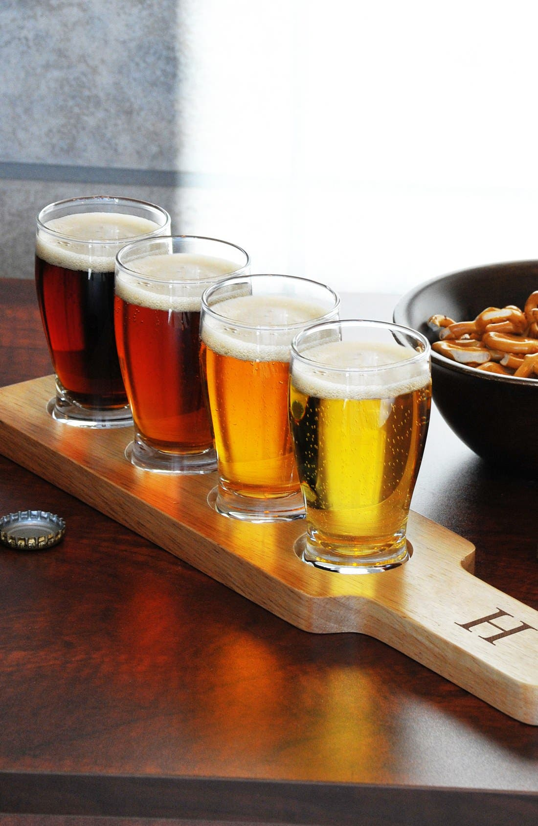 Main Image - Cathy's Concepts Monogram Beer Flight Sampler Set