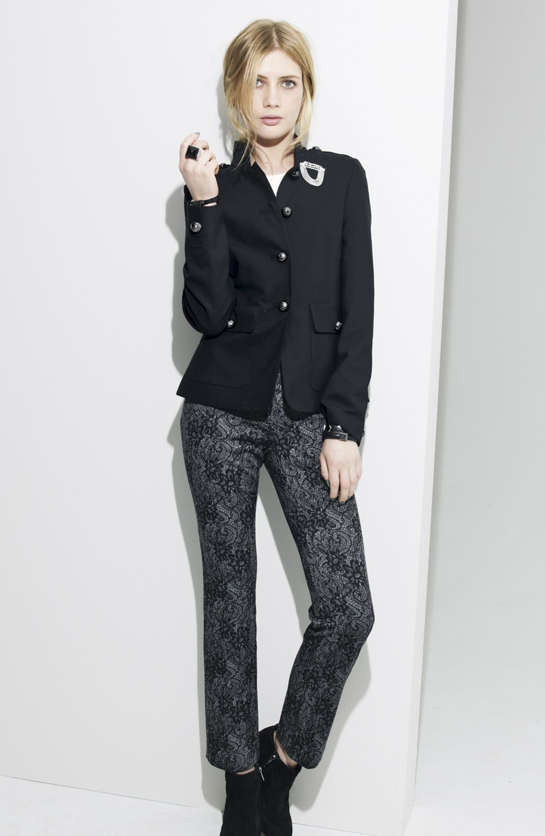 Alternate Image 1 Selected - Vince Camuto Military Jacket, Tee & Jacquard Pants