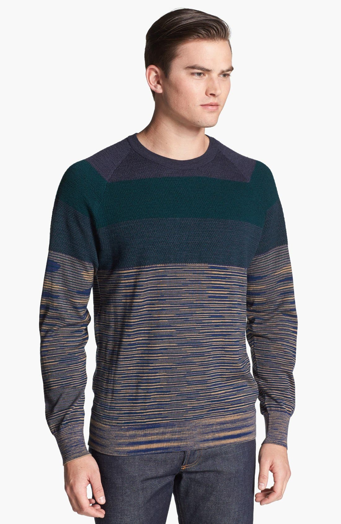 Alternate Image 1 Selected - Missoni Chest Stripe Space Dyed Crewneck Sweater