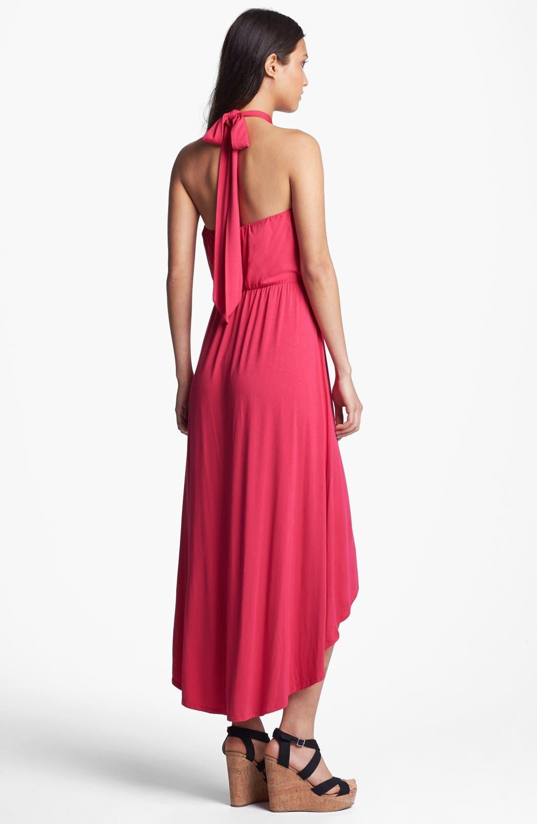 Alternate Image 2  - Felicity & Coco Halter High/Low Maxi Dress (Regular & Petite) (Nordstrom Exclusive)