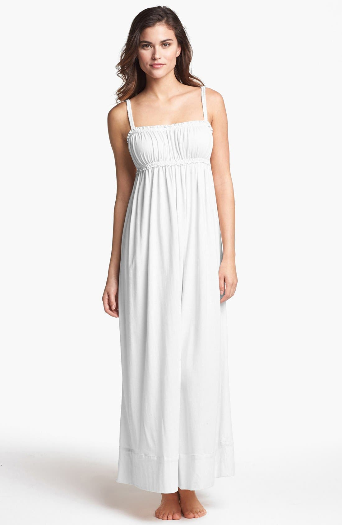 Main Image - Donna Karan 'Casual Luxe' Long Knit Nightgown
