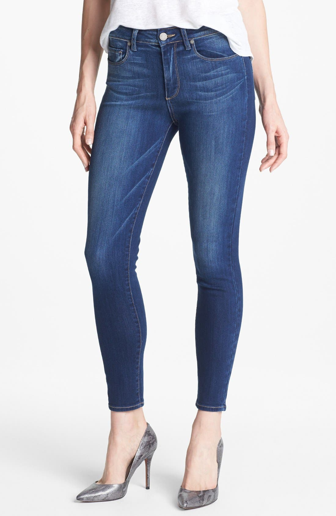 Main Image - Paige Denim 'Hoxton' Skinny Ankle Jeans (Light Year)