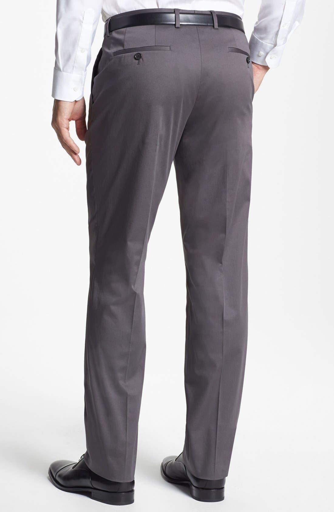 Alternate Image 2  - BOSS HUGO BOSS 'Sharp' Cotton Trousers
