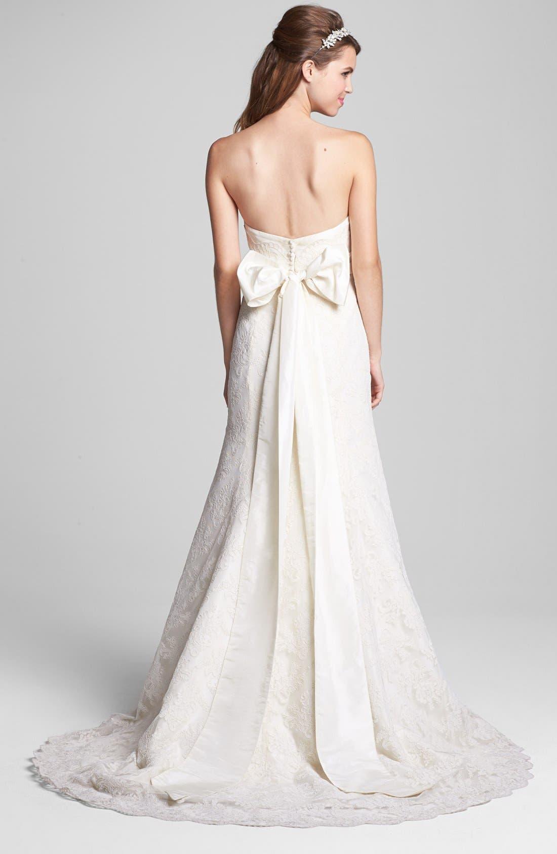 Alternate Image 2  - Jenny Yoo Antique Lace Dress & Accessories