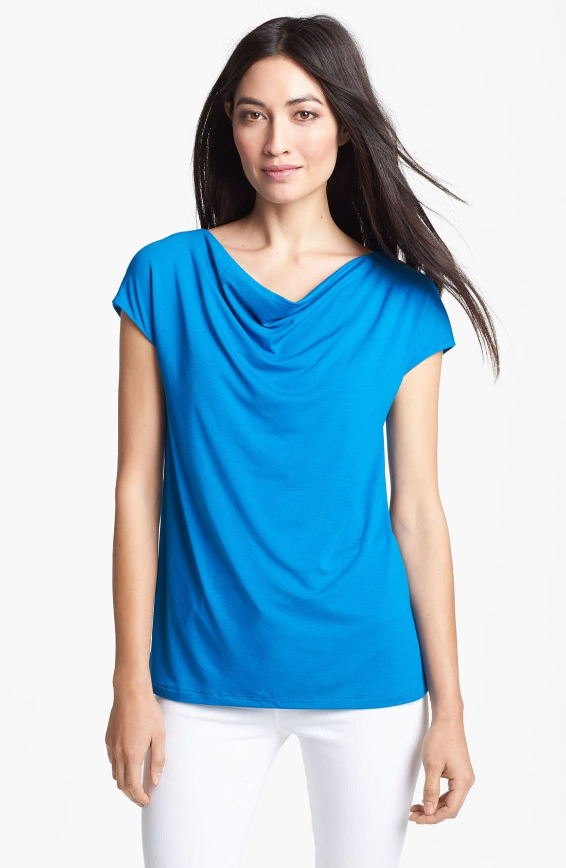 Main Image - Eileen Fisher Drape Neck Top