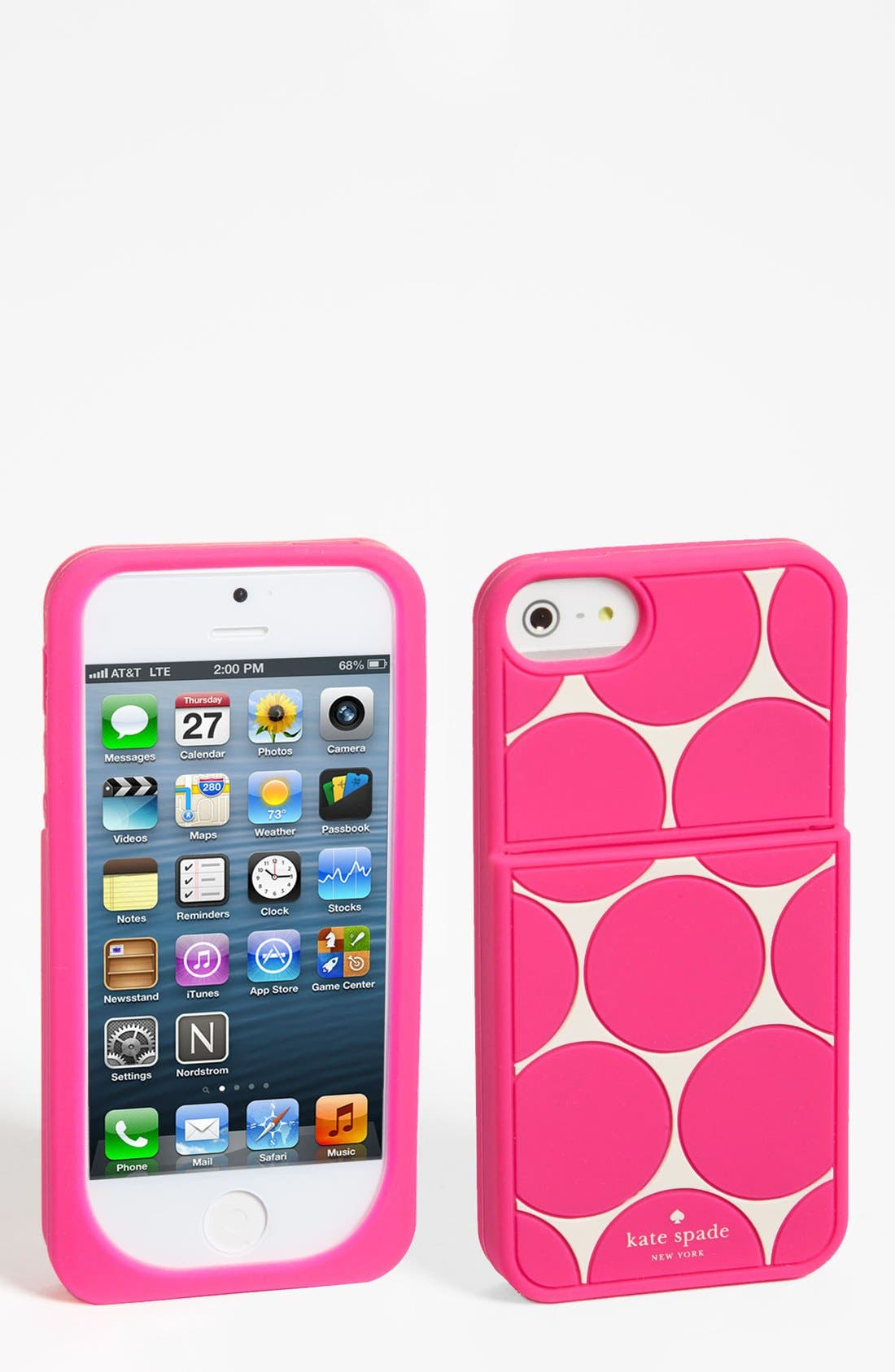 Main Image - kate spade new york 'deborah dot' iPhone 5 & 5S case & card holder