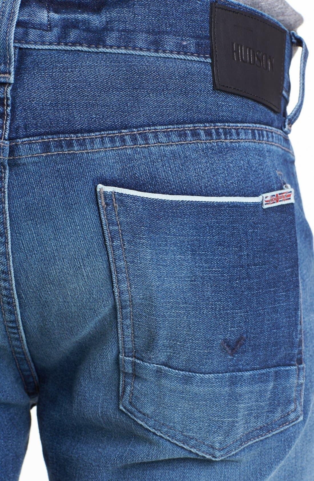 Alternate Image 4  - Hudson Jeans 'Byron' Straight Leg Selvedge Jeans (Belize)