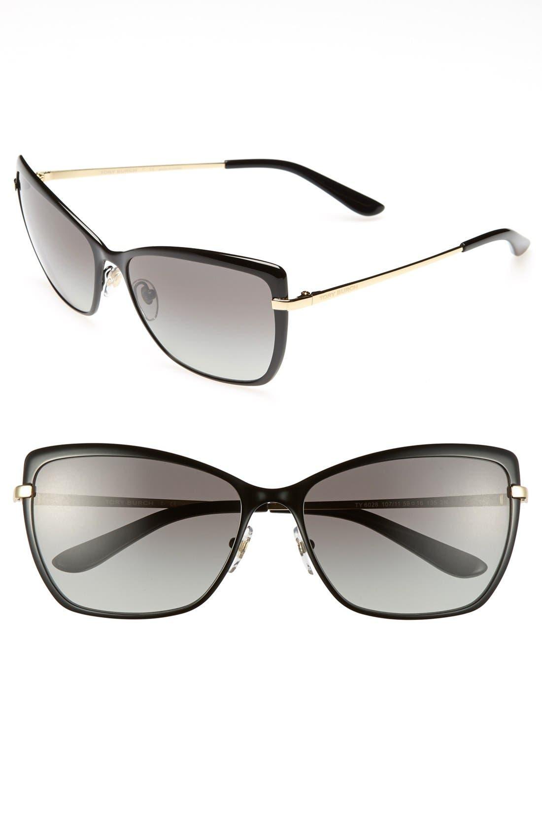 Alternate Image 1 Selected - Tory Burch 59mm Retro Sunglasses