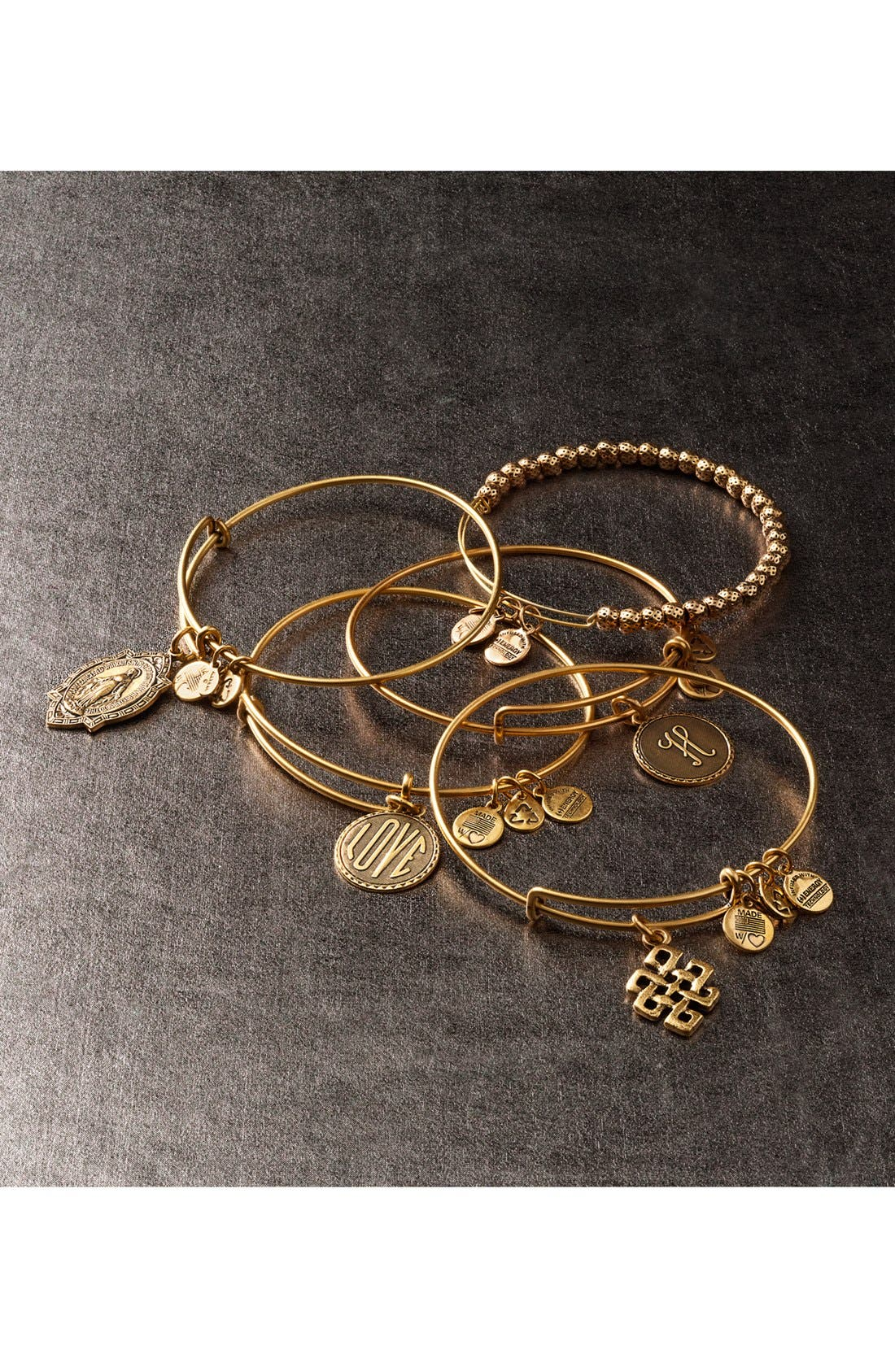 Alternate Image 2  - Alex and Ani 'Love' Expandable Wire Bangle