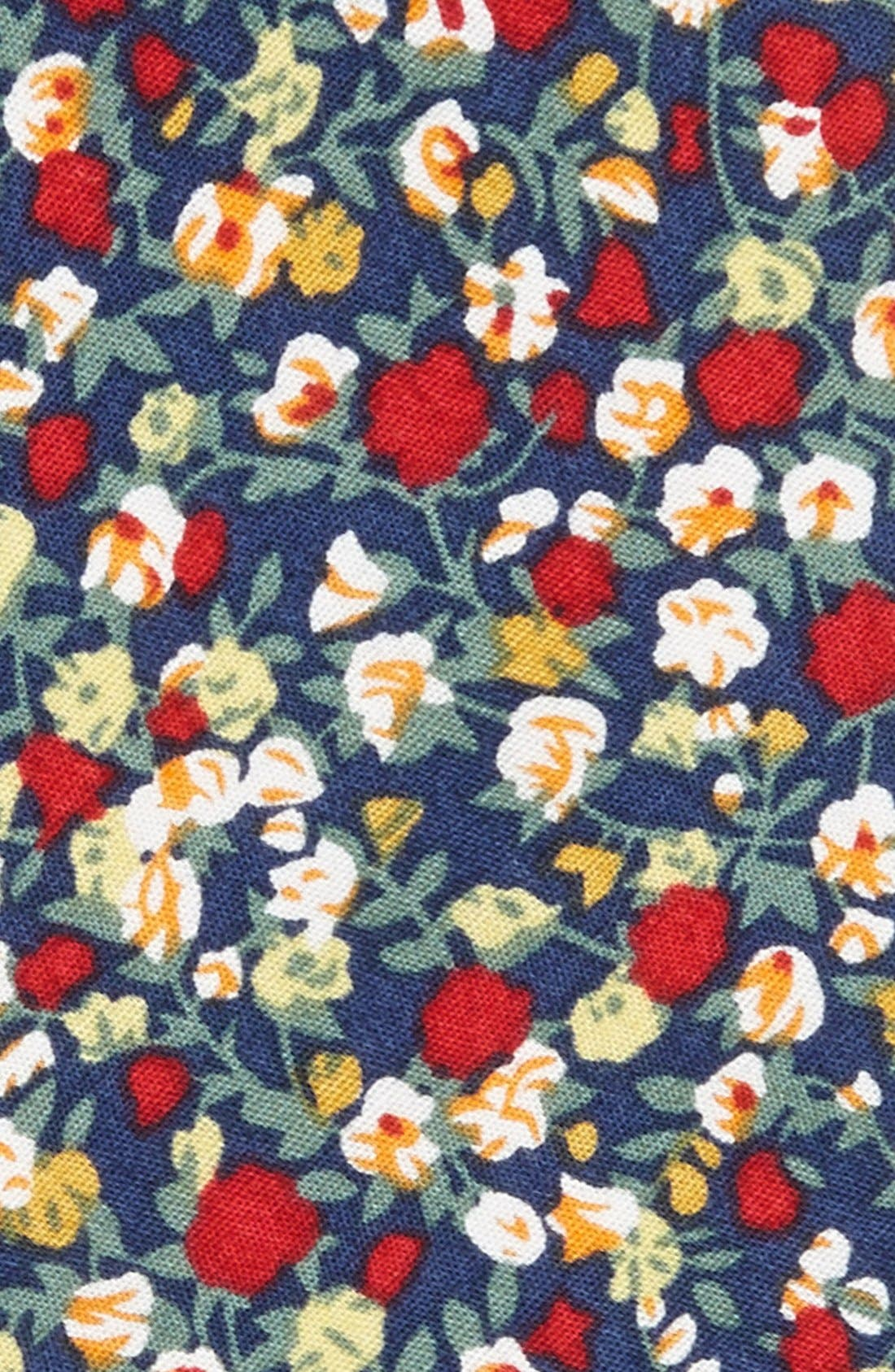 Alternate Image 2  - Topman Floral Print Woven Cotton Tie