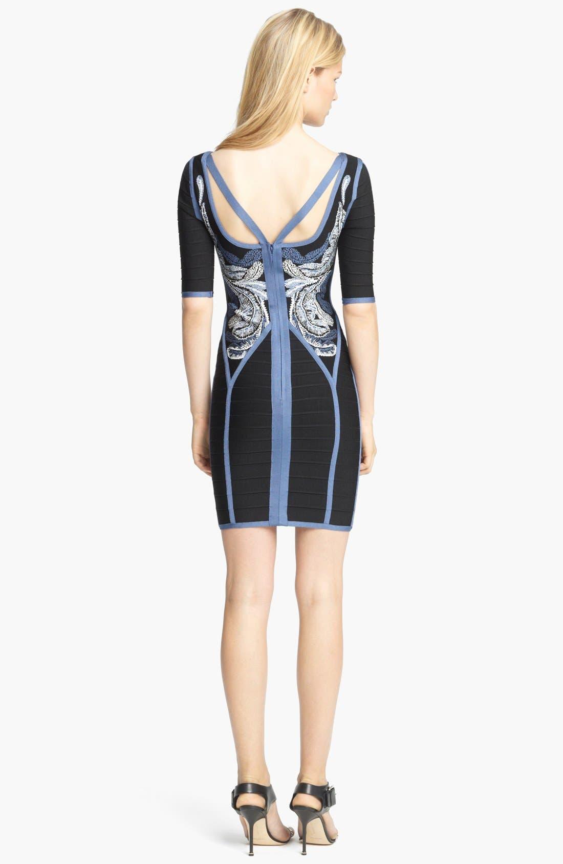 Alternate Image 3  - Herve Leger Embroidered Bandage Dress