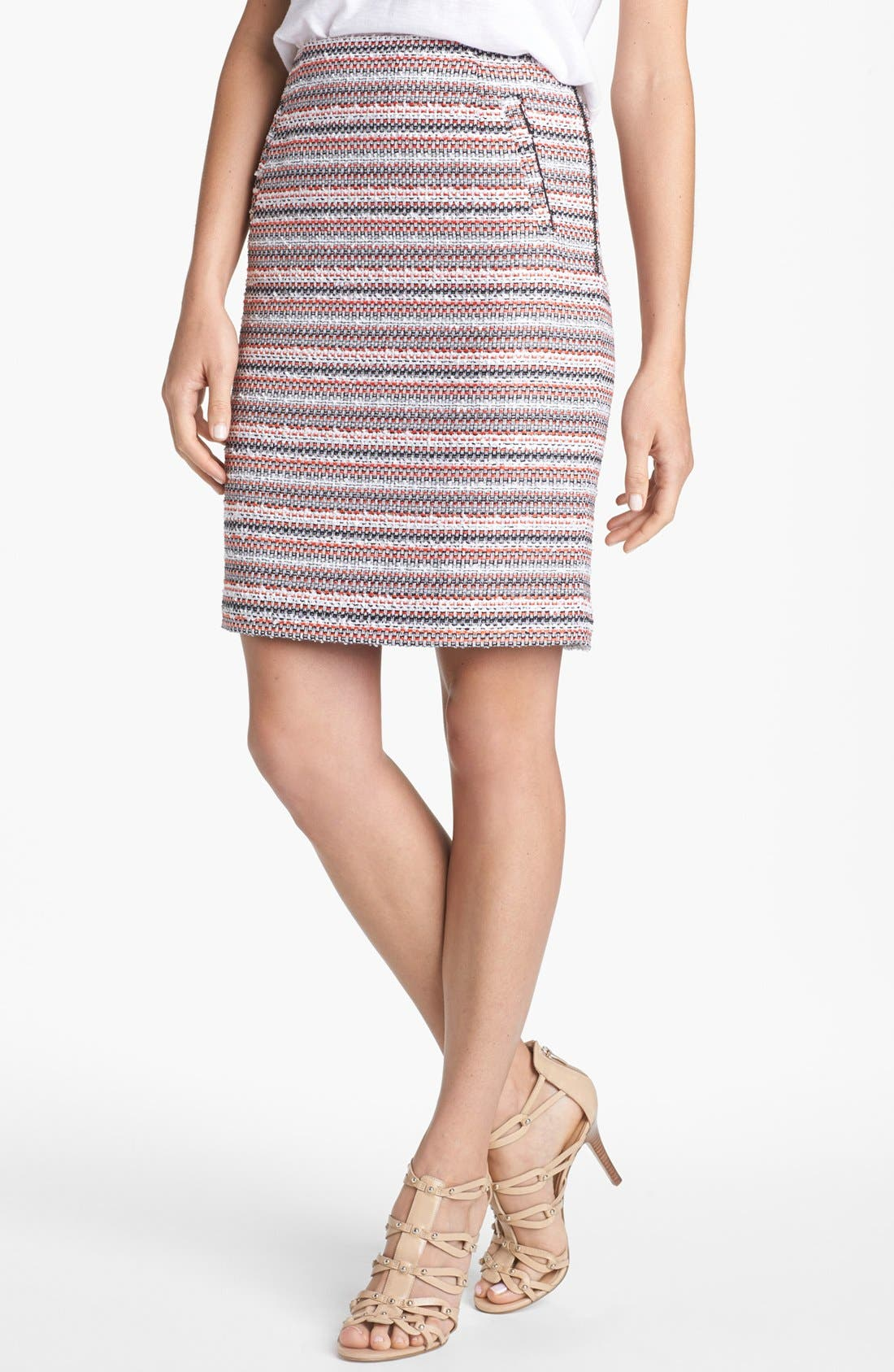 Main Image - Halogen® Textured Pencil Skirt