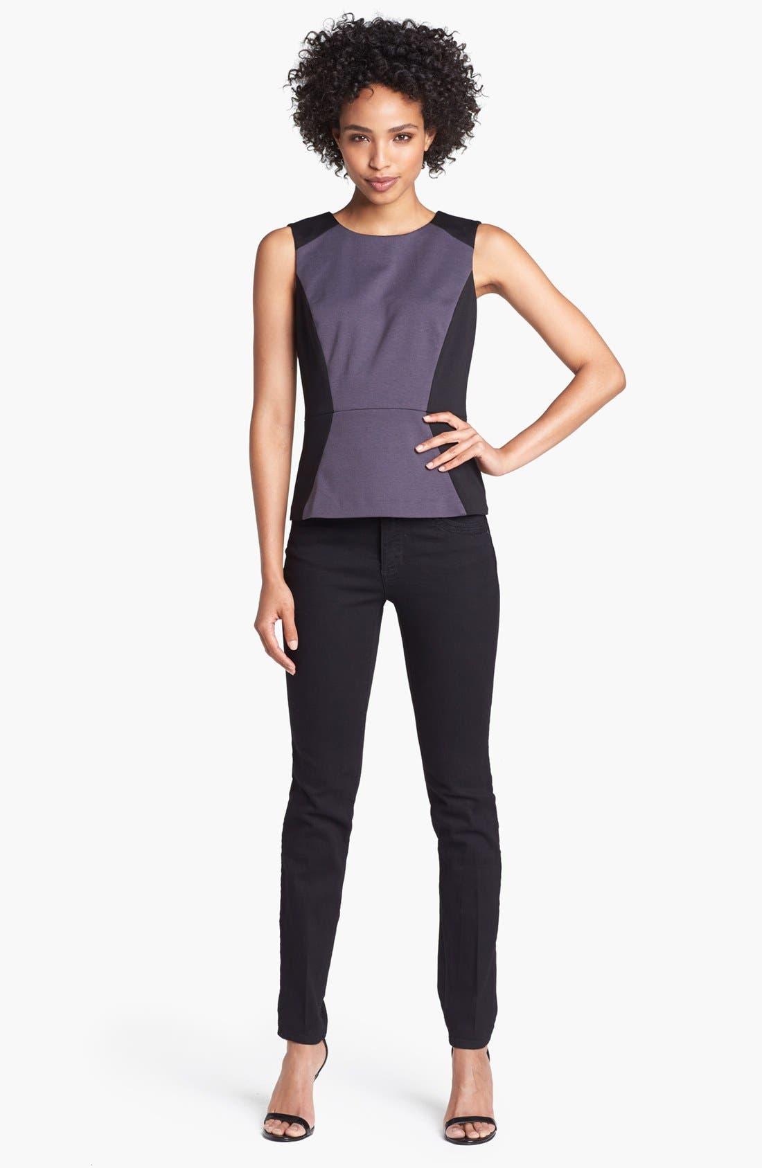 Alternate Image 4  - Wit & Wisdom Skinny Jeans (Black) (Nordstrom Exclusive)