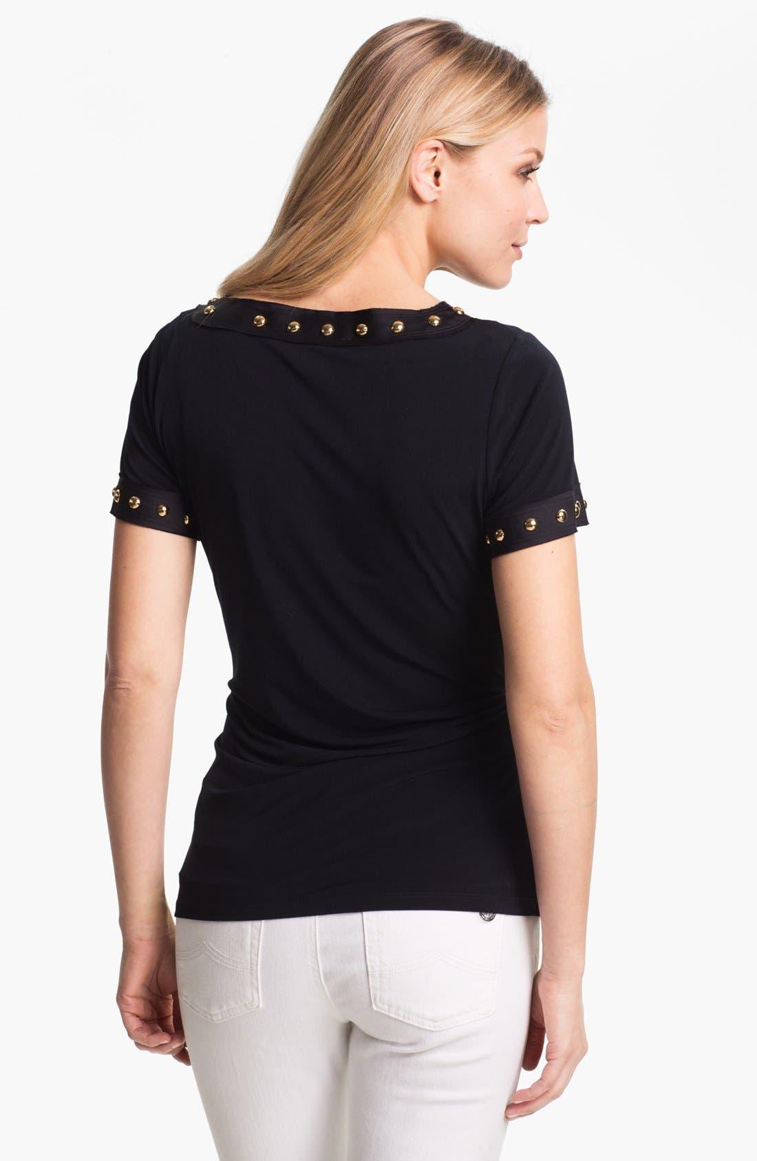 Alternate Image 2  - MICHAEL Michael Kors Studded Matte Jersey Top (Petite)