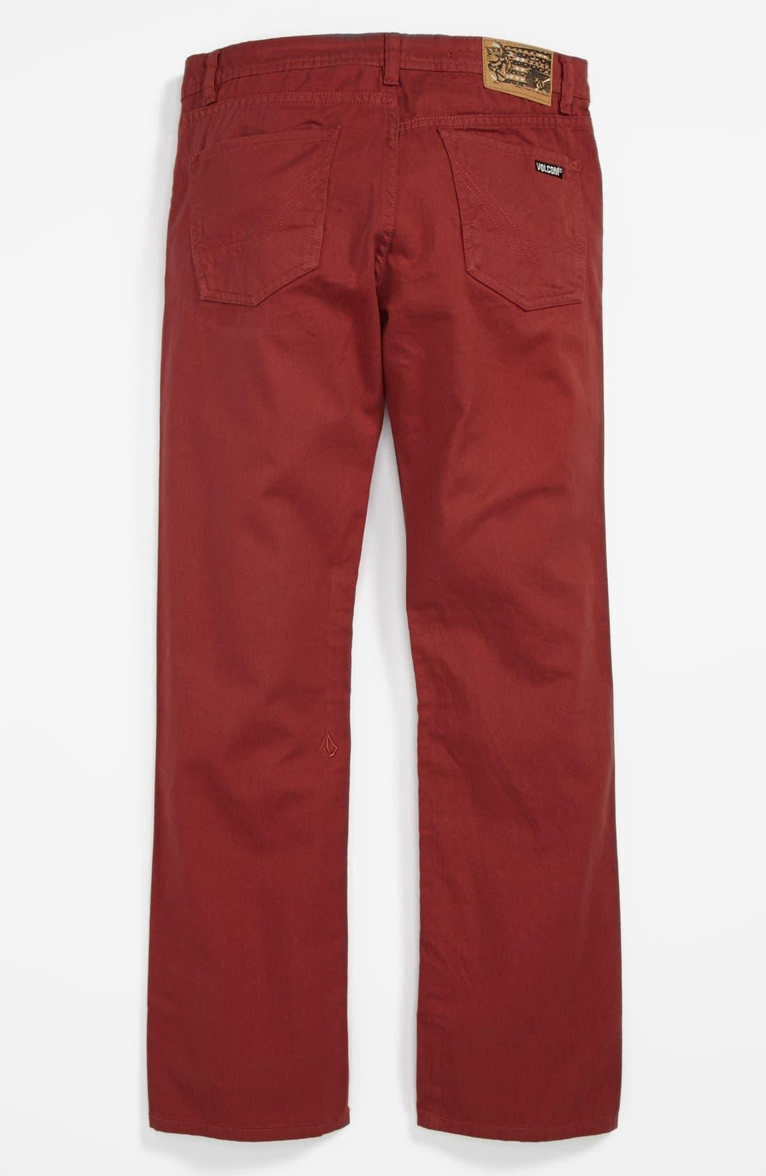 Alternate Image 1 Selected - Volcom 'Vorta' Twill Pants (Big Boys)