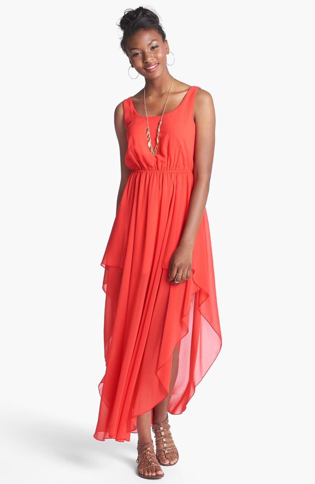 Main Image - Soprano Side Slit Maxi Dress (Juniors)