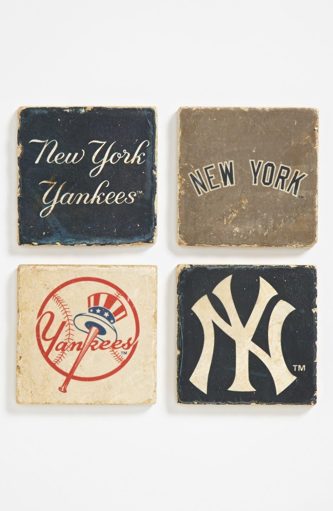 Alternate Image 1 Selected - 'New York Yankees' Marble Coasters (Set of 4)