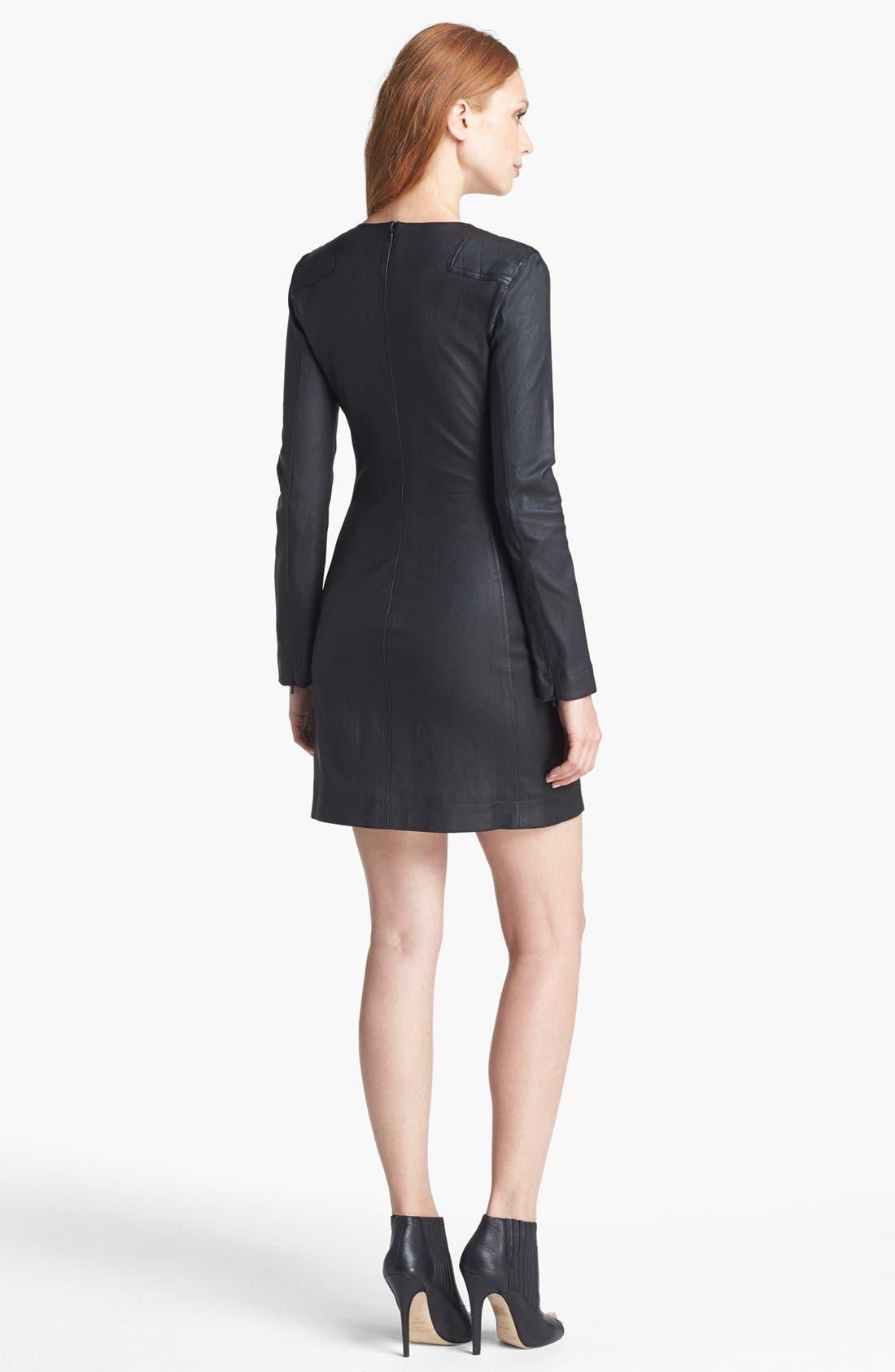 Alternate Image 2  - MARC BY MARC JACOBS 'Lena' Leather Sheath Dress