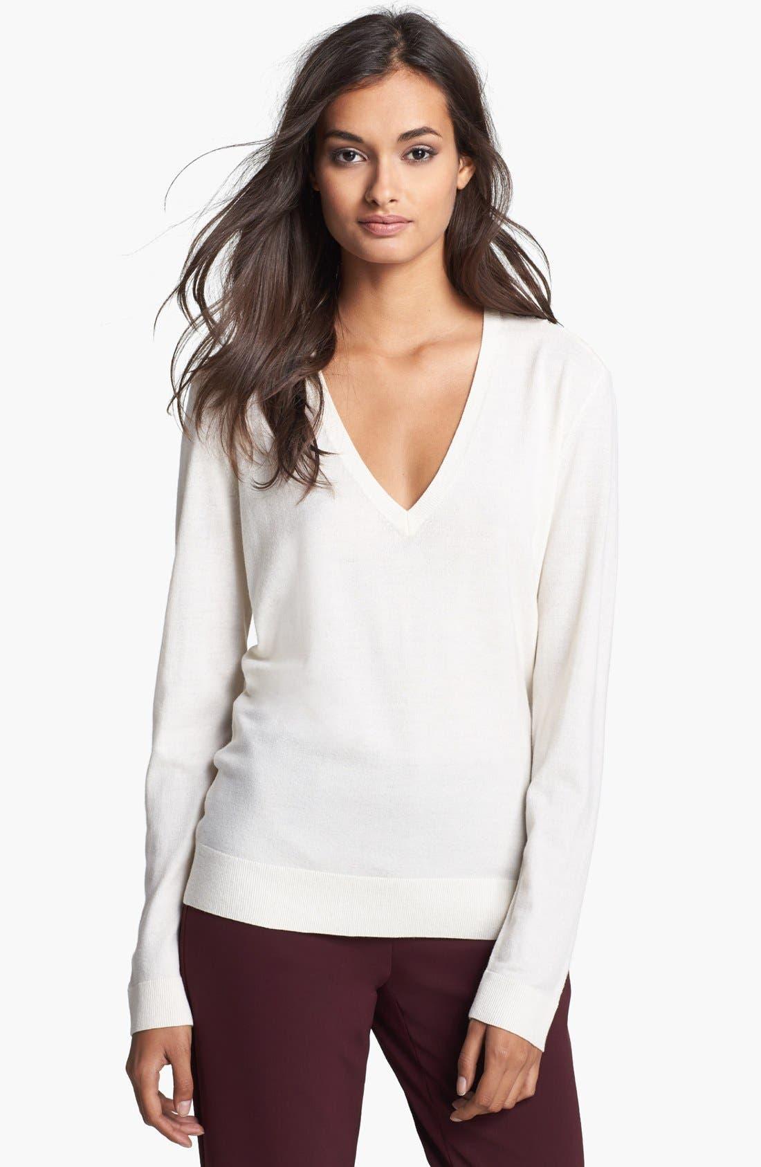 Main Image - Theory 'Adrianna' Lace Back Sweater