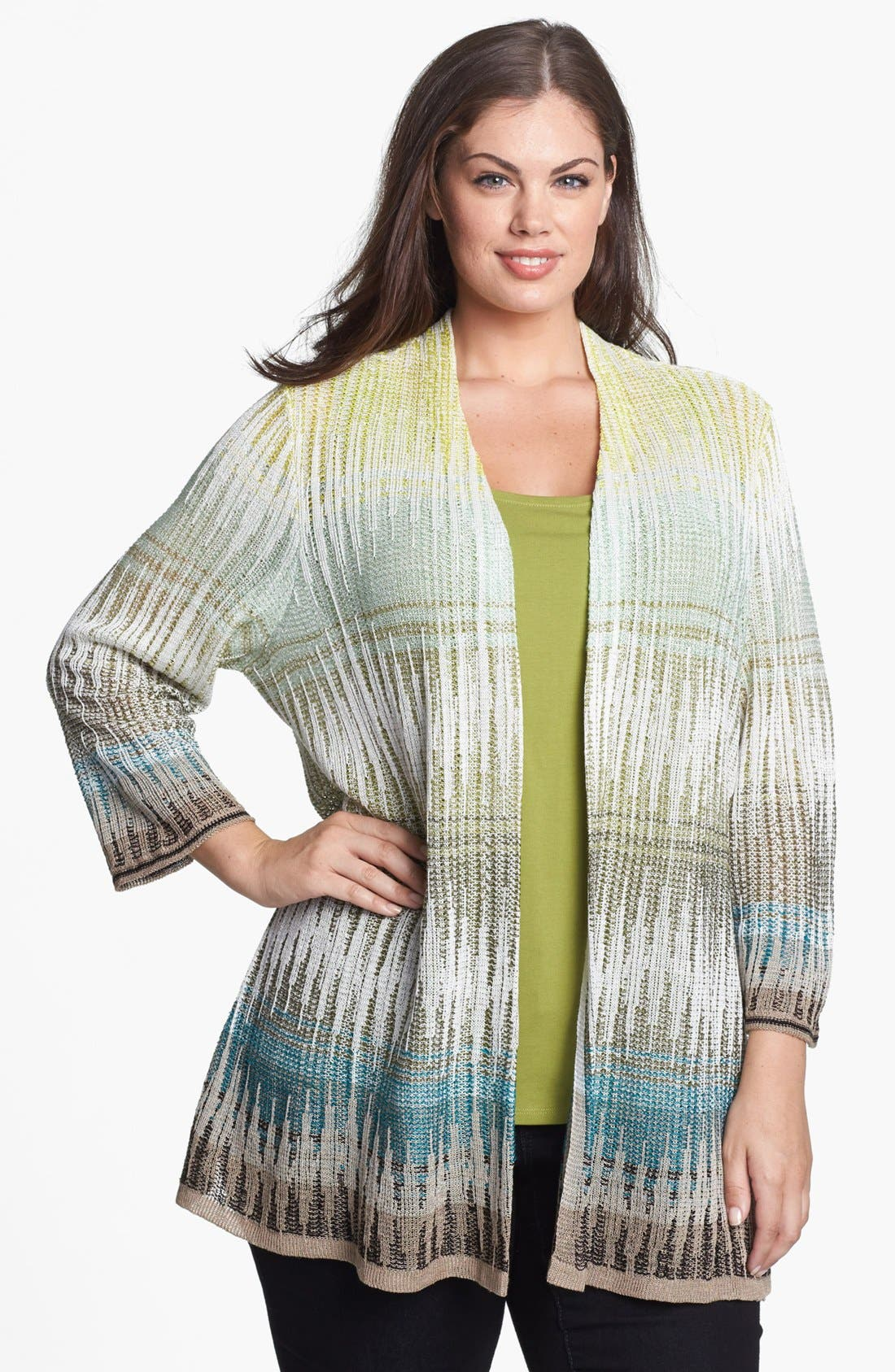 Alternate Image 1 Selected - NIC+ZOE 'Canopy' Cardigan (Plus Size)