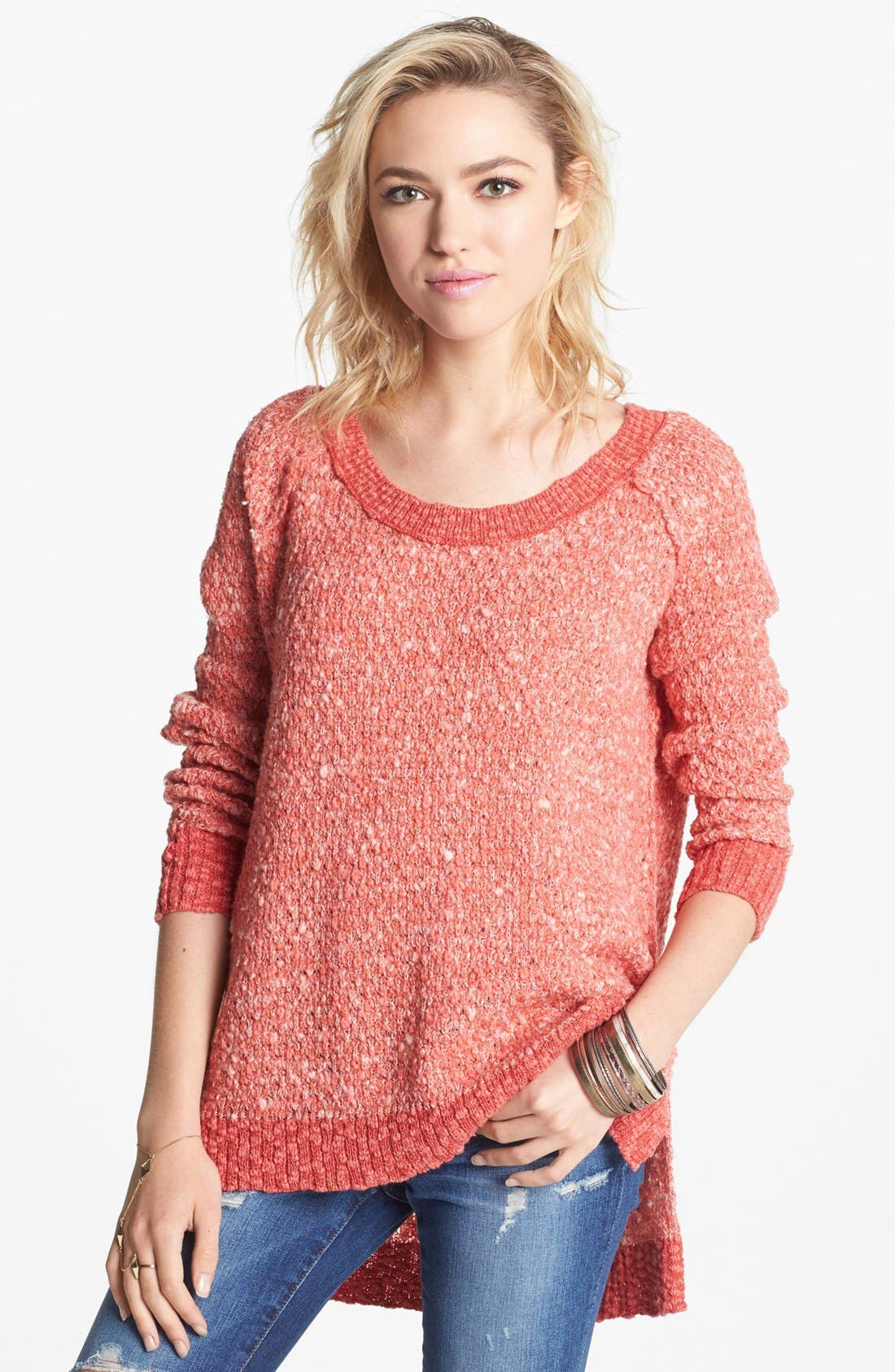 Main Image - Free People 'Po Jeepster' High/Low Sweater