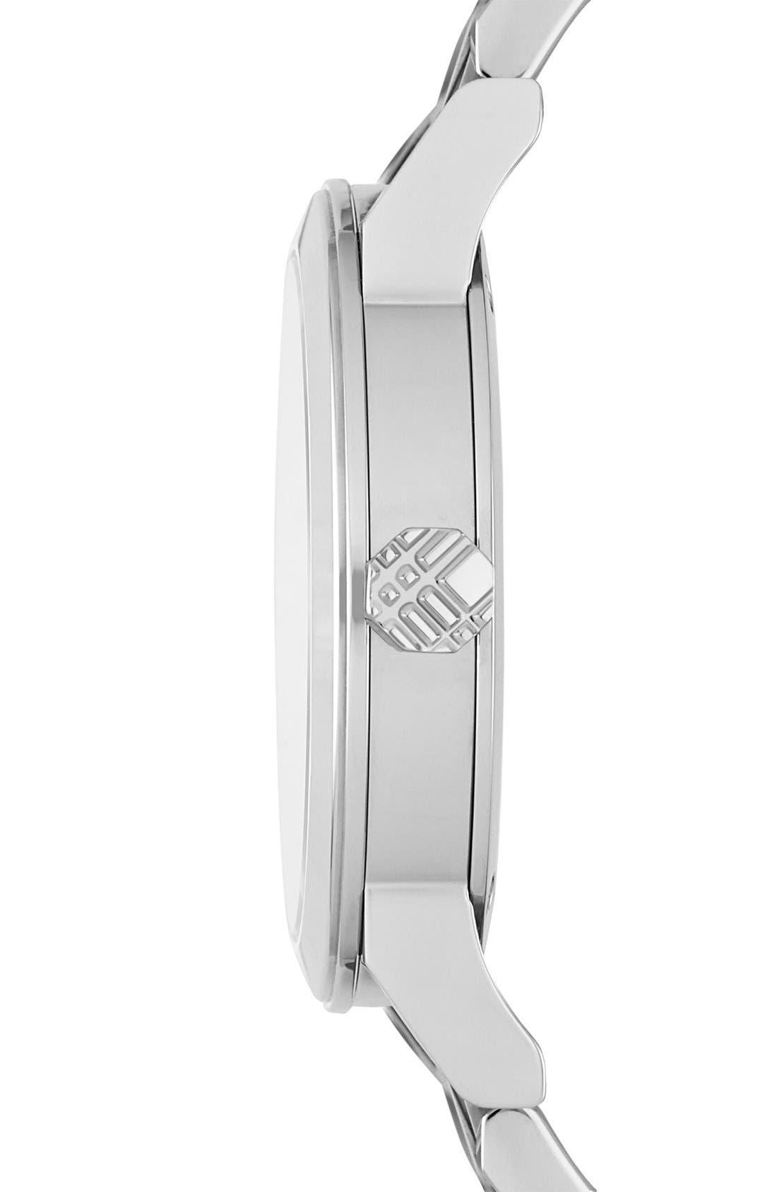 Alternate Image 4  - Burberry Round Diamond Dial Bracelet Watch, 34mm