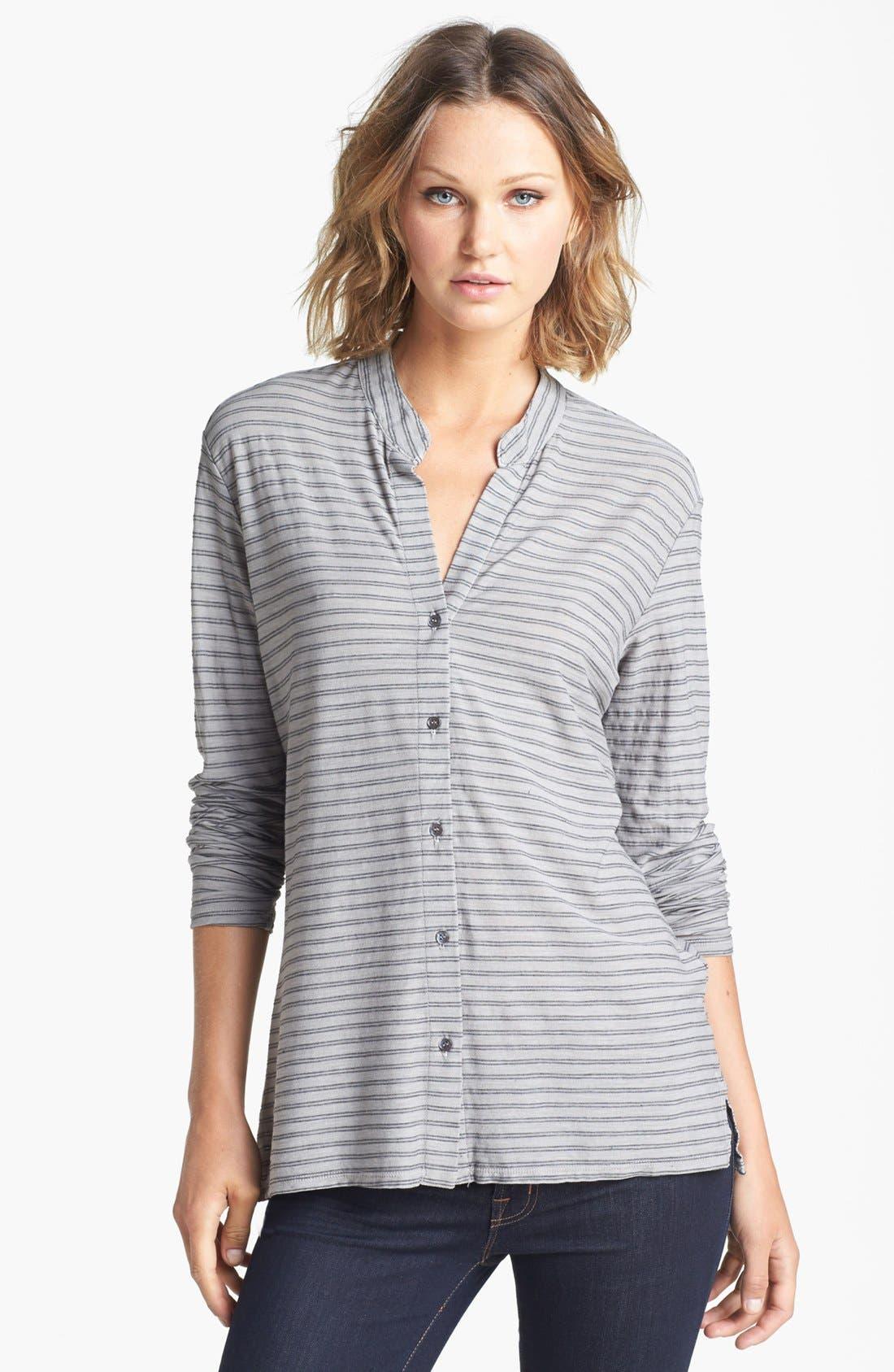 Main Image - James Perse Stripe Slub Jersey Button Up