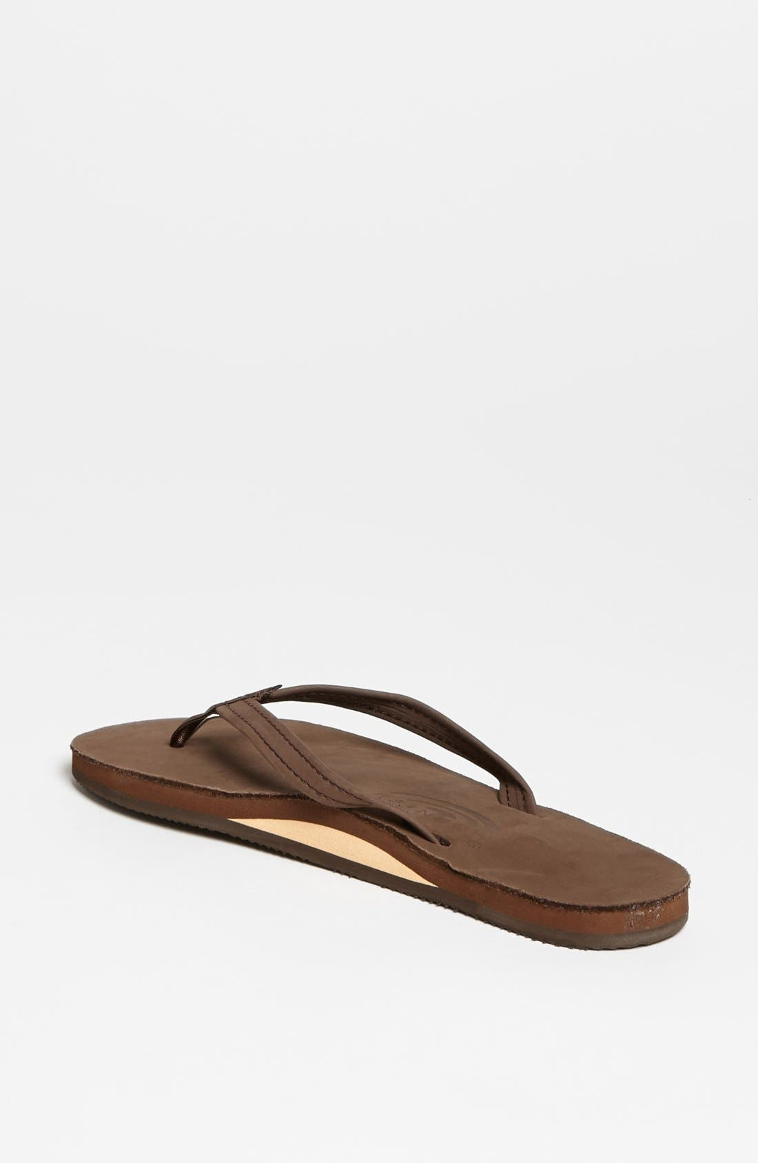 Narrow Strap Sandal,                             Alternate thumbnail 2, color,                             Expresso