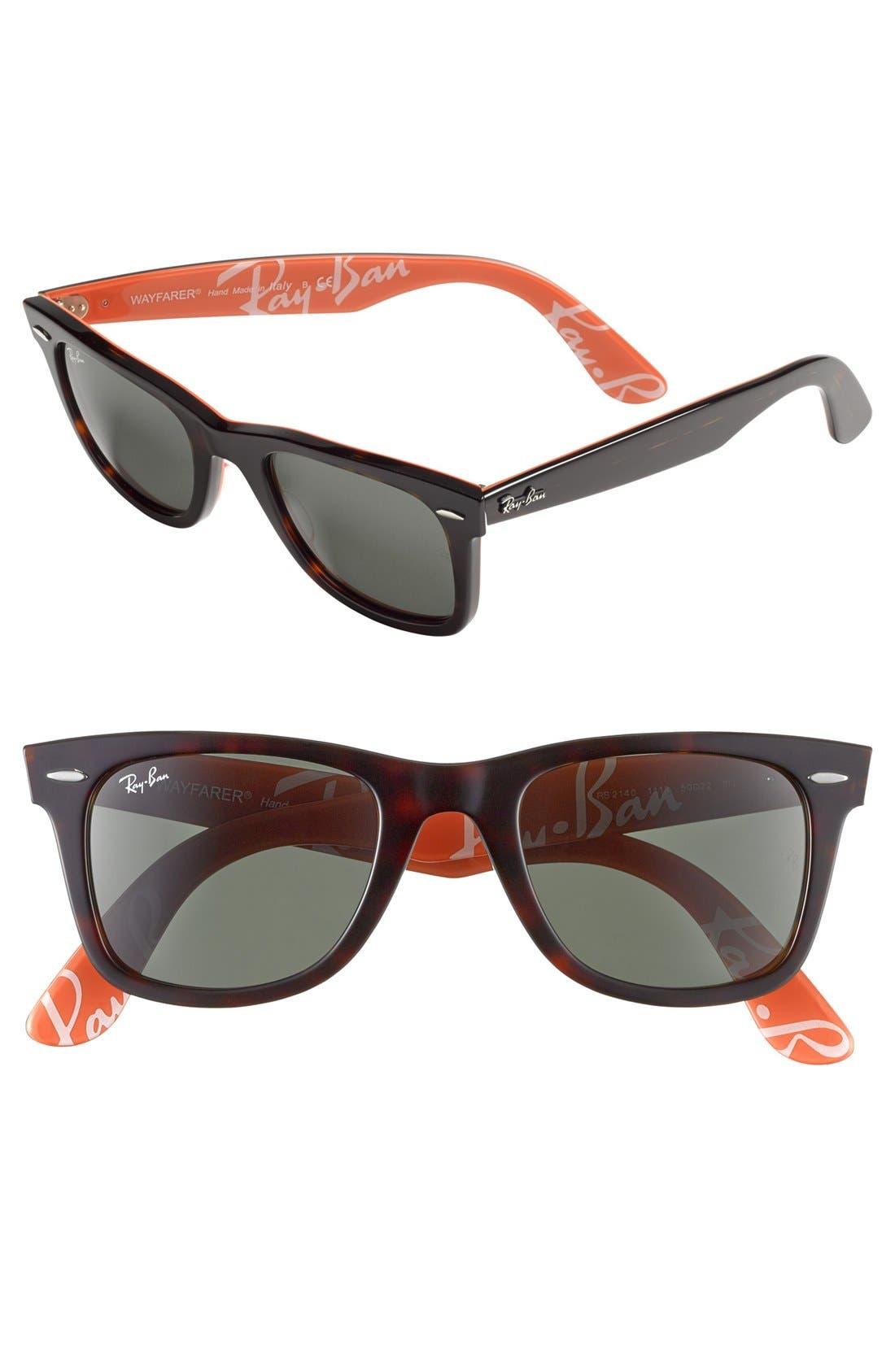 Alternate Image 1 Selected - Ray-Ban 'Logomania' 50mm Sunglasses