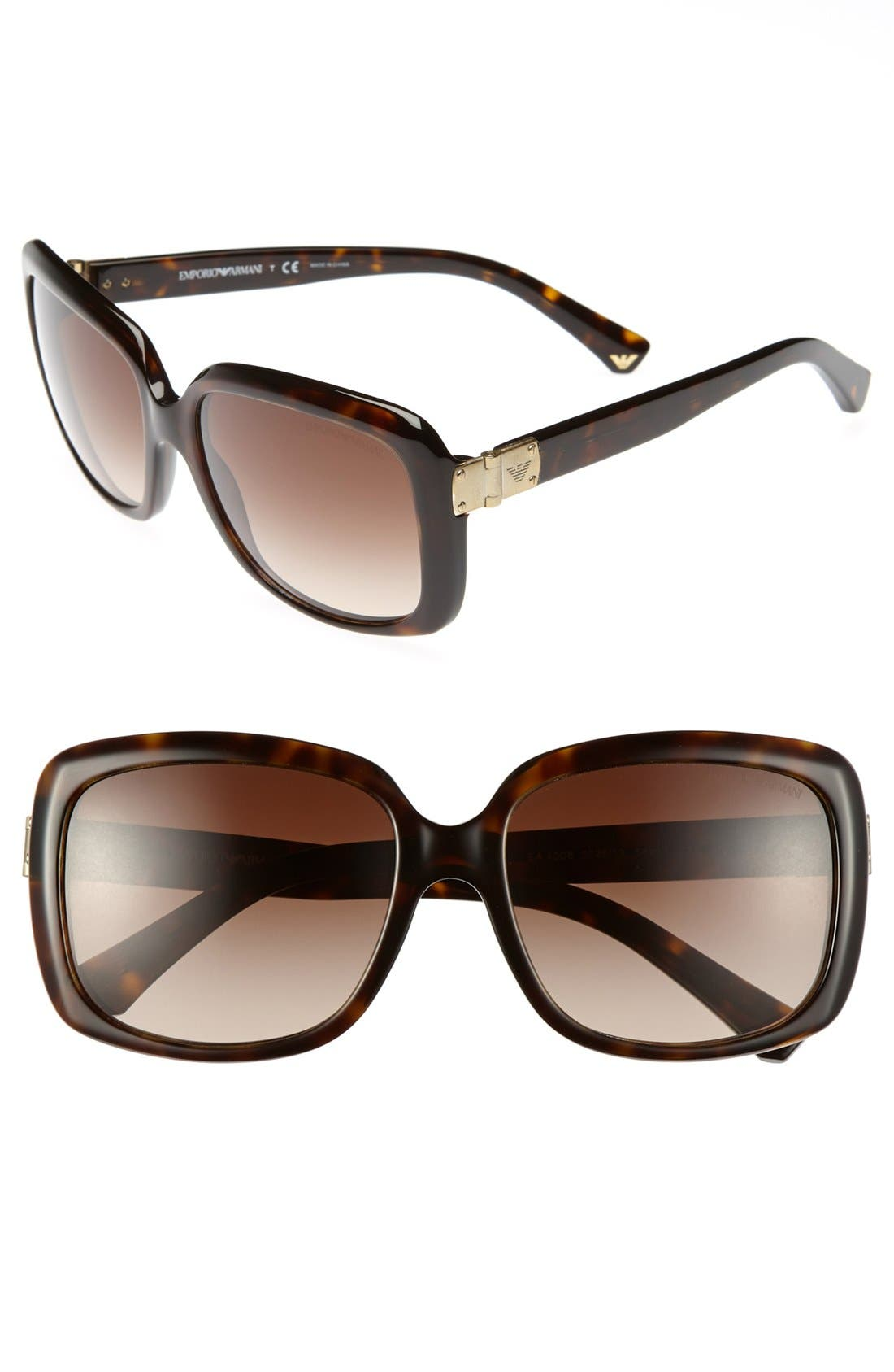 Alternate Image 1 Selected - Emporio Armani 56mm Sunglasses
