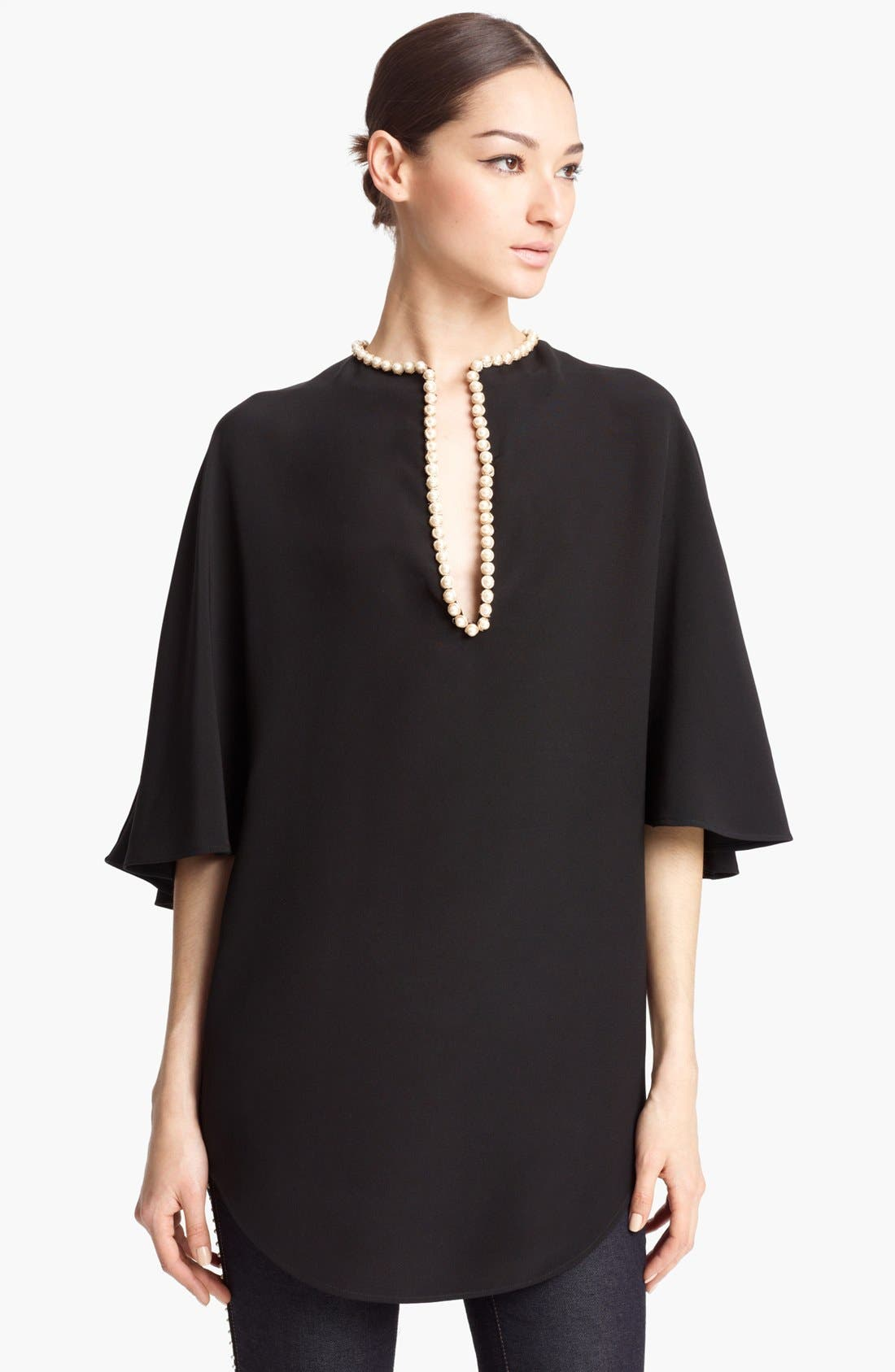 Main Image - Alexander McQueen Embroidered Neck Cady Caftan