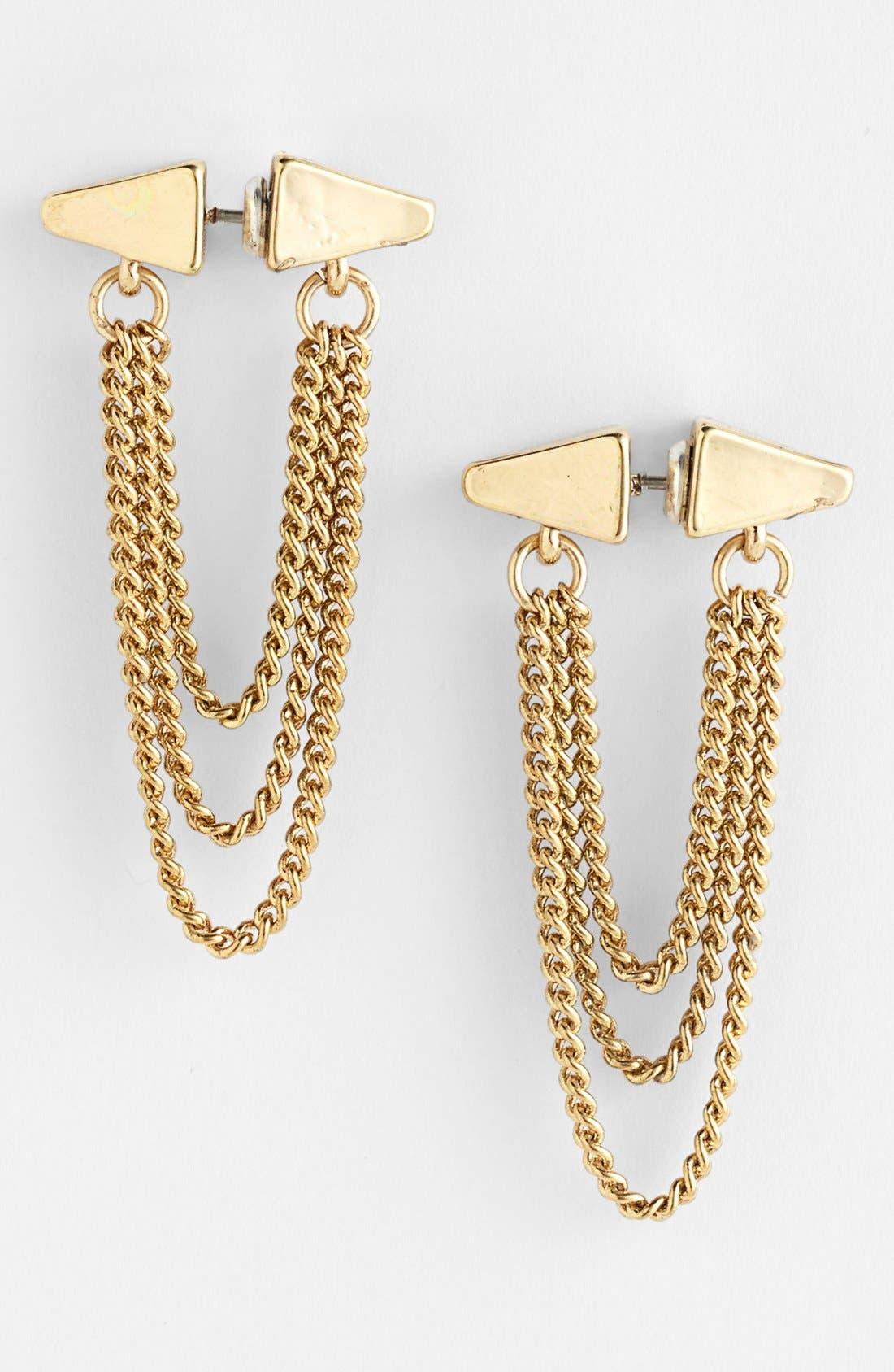 Alternate Image 1 Selected - BCBGeneration Metal Chain Earrings