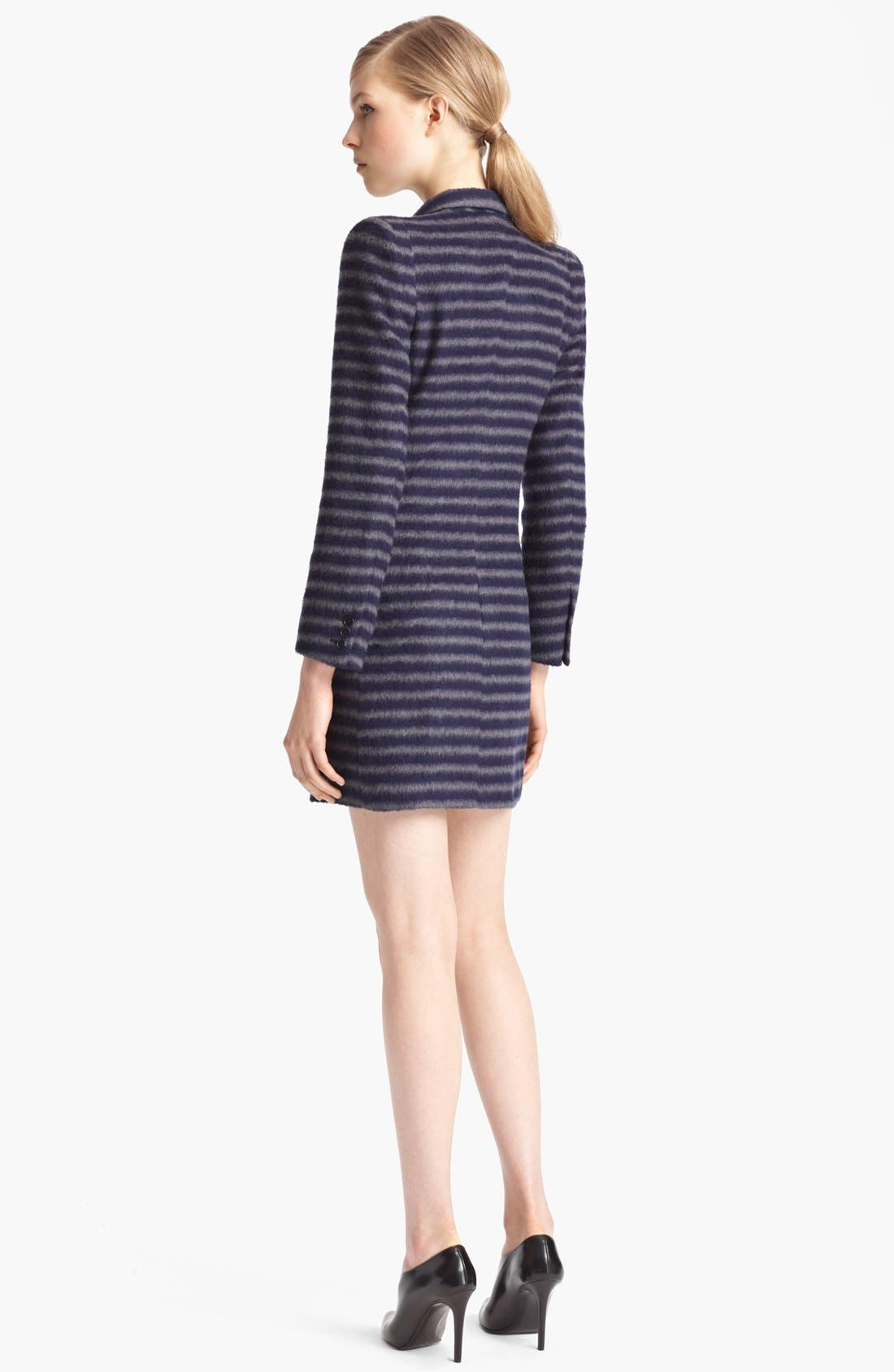 Alternate Image 2  - Band of Outsiders Double Breasted Stripe Coat